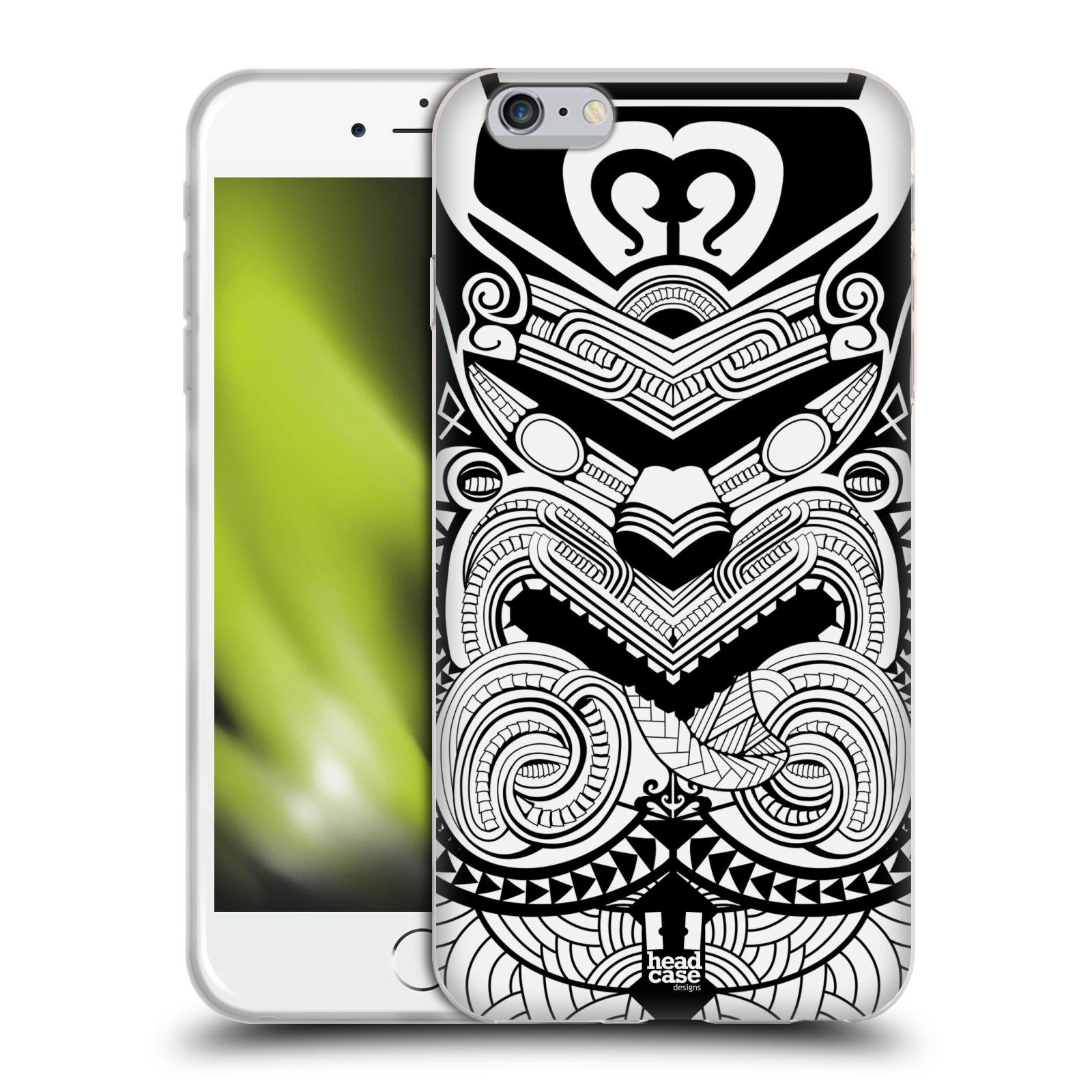 HEAD CASE silikonový obal na mobil Apple Iphone 6 PLUS/ 6S PLUS vzor Maorské tetování motivy černá a bílá VÁLEČNÍK