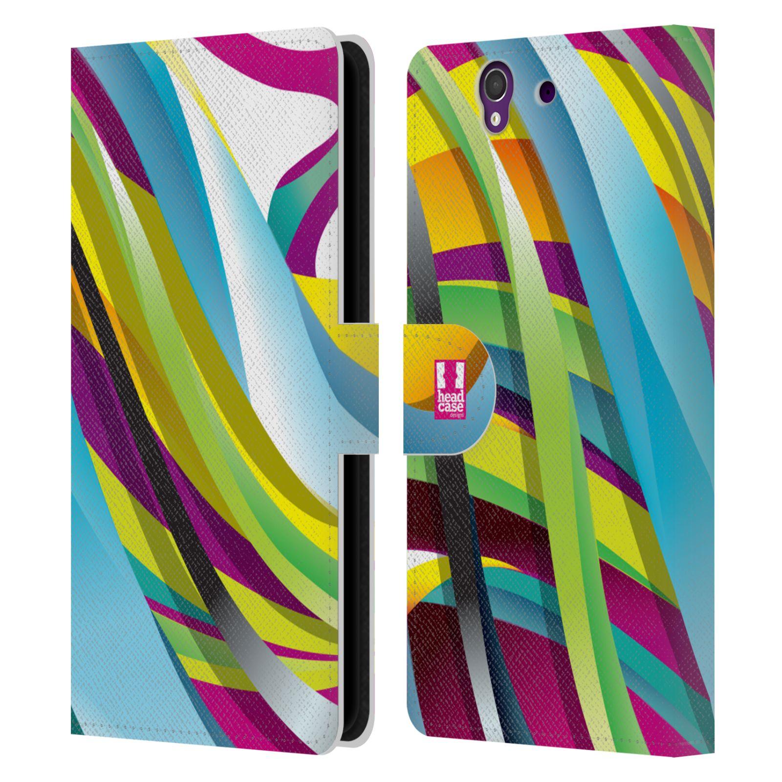 HEAD CASE Flipové pouzdro pro mobil SONY XPERIA Z (C6603) barevný mramor RETRO ELEKTRO