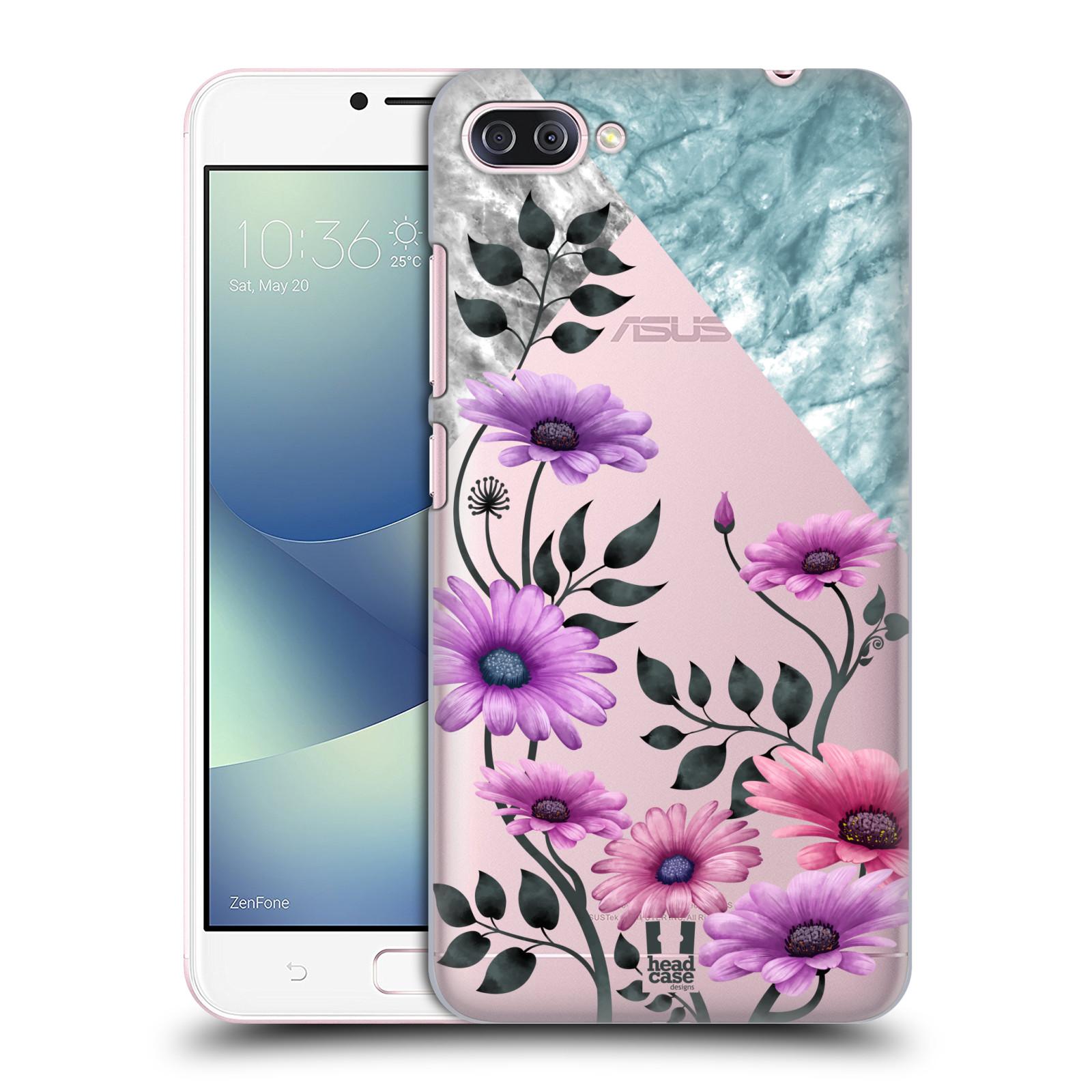 HEAD CASE plastový obal na mobil Asus Zenfone 4 MAX ZC554KL květiny hvězdnice, Aster fialová a modrá
