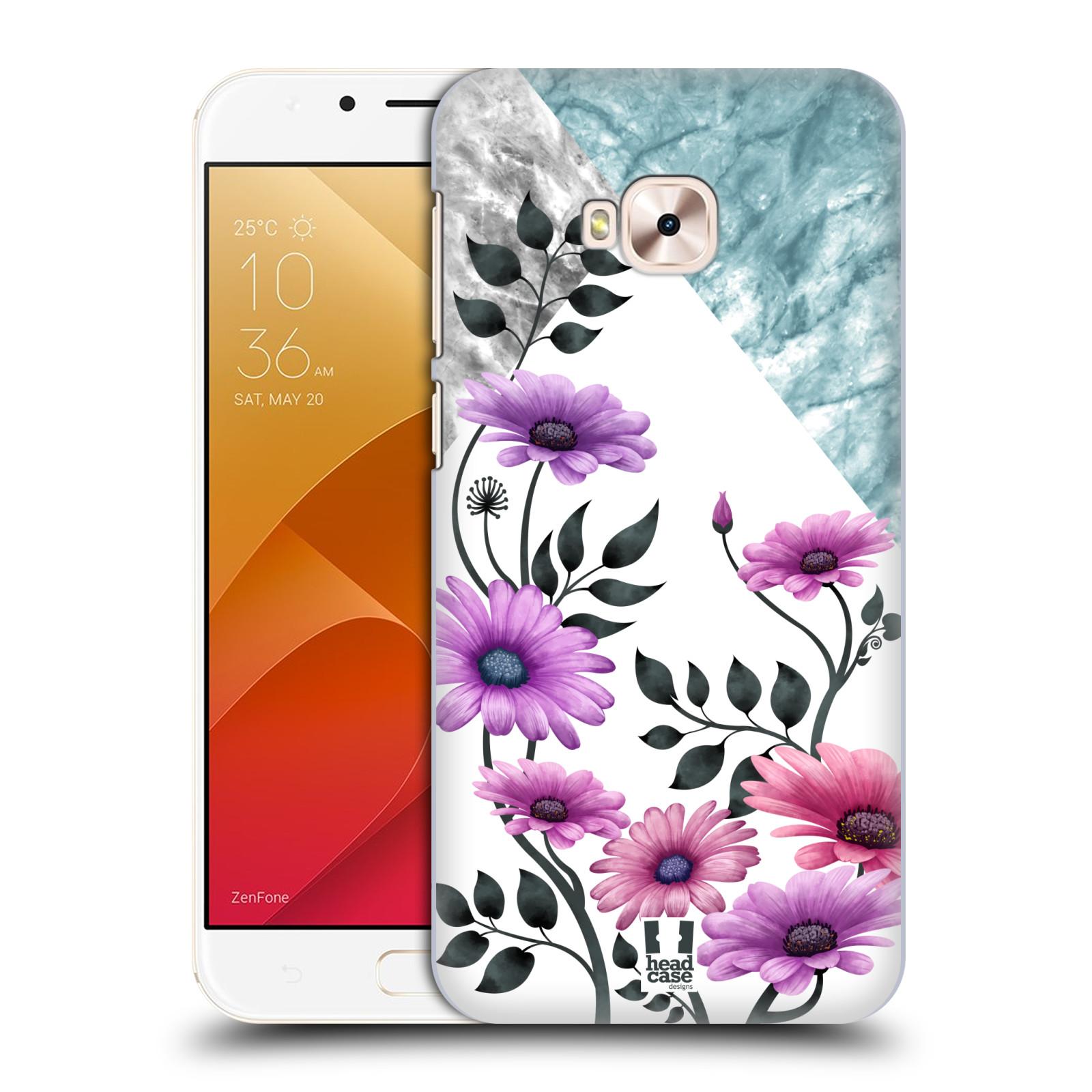HEAD CASE plastový obal na mobil Asus Zenfone 4 Selfie Pro ZD552KL květiny hvězdnice, Aster fialová a modrá