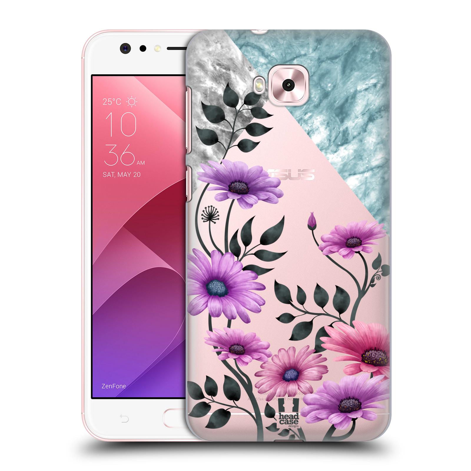 HEAD CASE plastový obal na mobil Asus Zenfone 4 Selfie ZD553KL květiny hvězdnice, Aster fialová a modrá