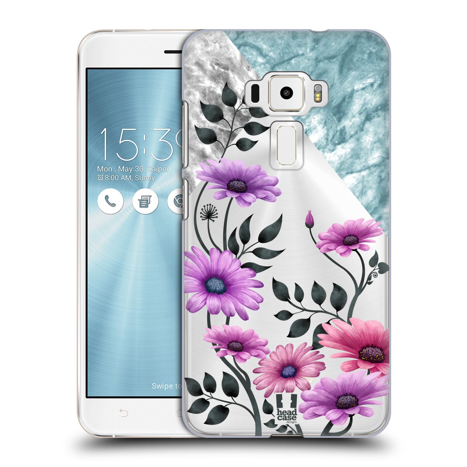 HEAD CASE plastový obal na mobil Asus Zenfone 3 ZE552KL květiny hvězdnice, Aster fialová a modrá