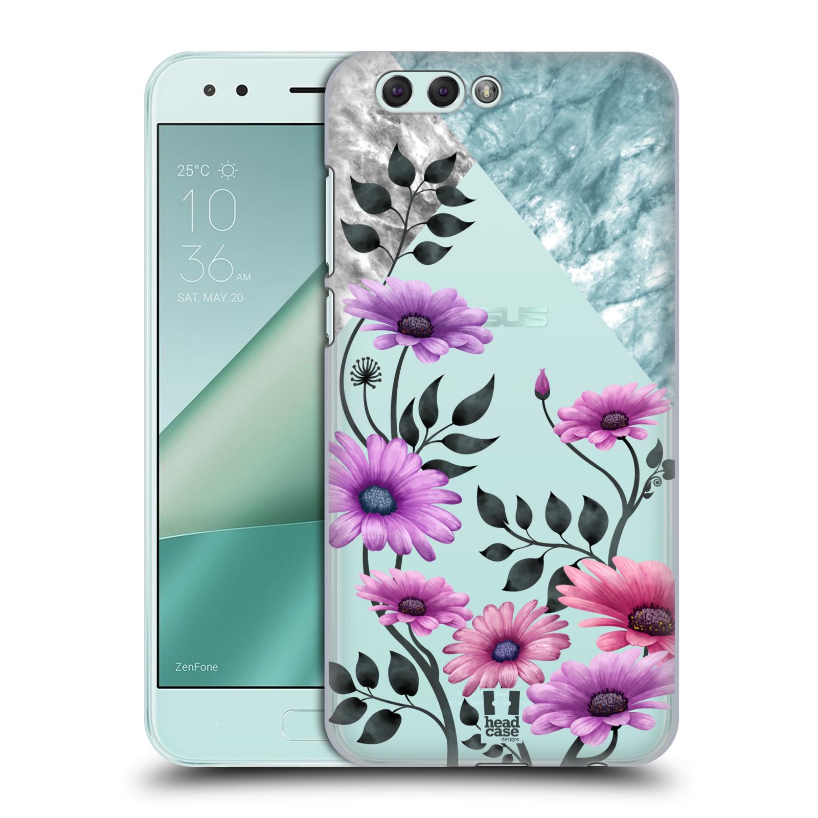 HEAD CASE plastový obal na mobil Asus Zenfone 4 ZE554KL květiny hvězdnice, Aster fialová a modrá