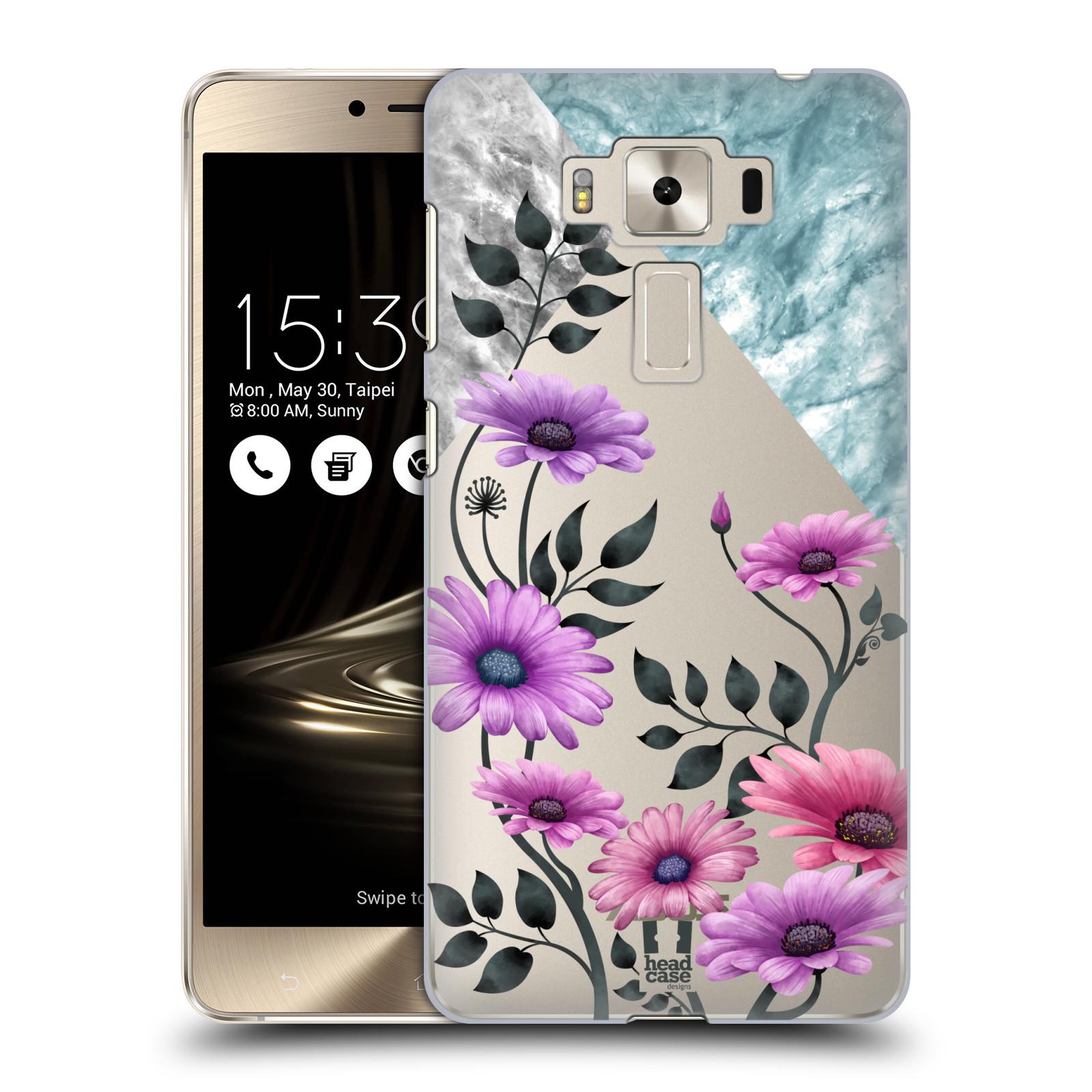 HEAD CASE plastový obal na mobil Asus Zenfone 3 DELUXE ZS550KL květiny hvězdnice, Aster fialová a modrá