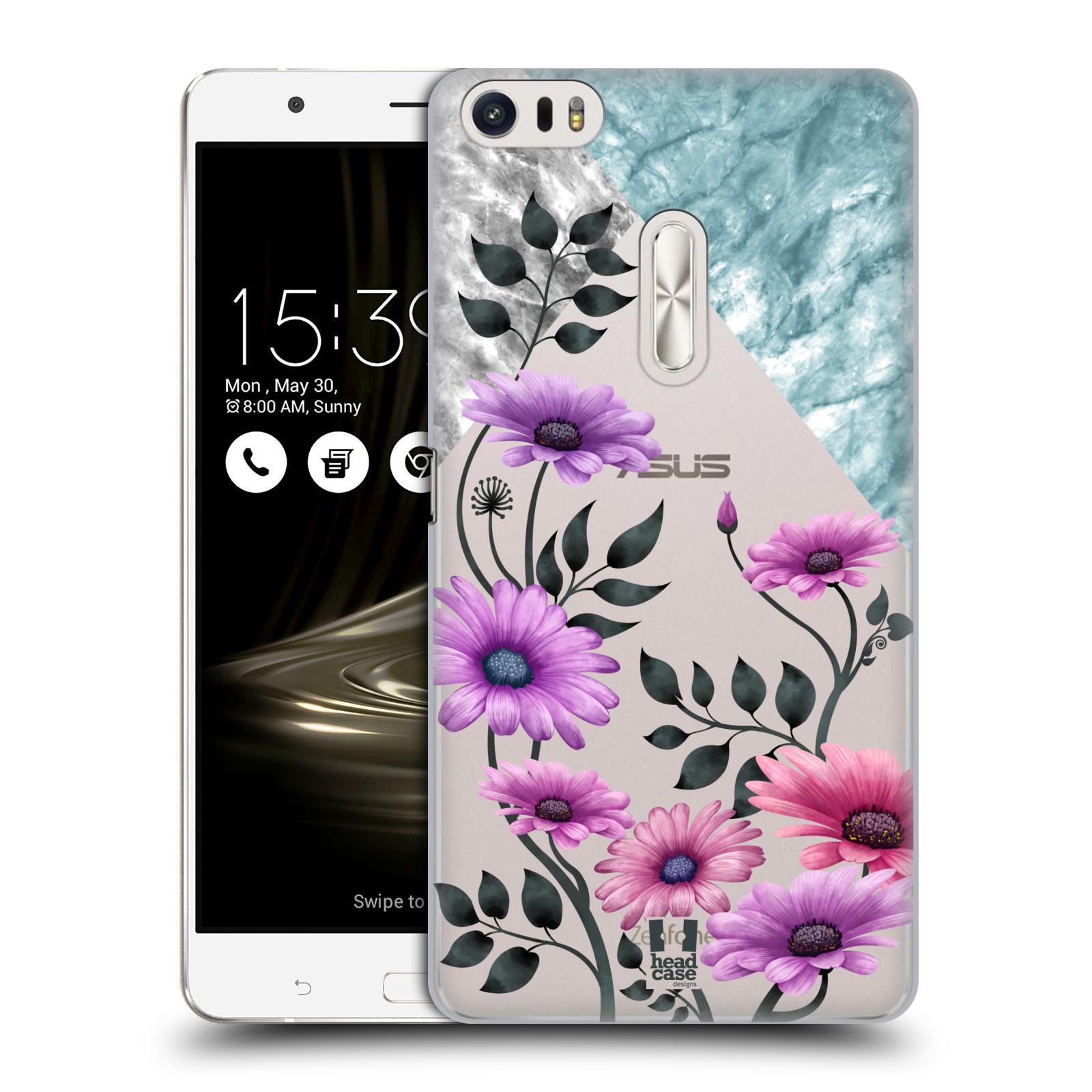 HEAD CASE plastový obal na mobil Asus Zenfone 3 Ultra ZU680KL květiny hvězdnice, Aster fialová a modrá