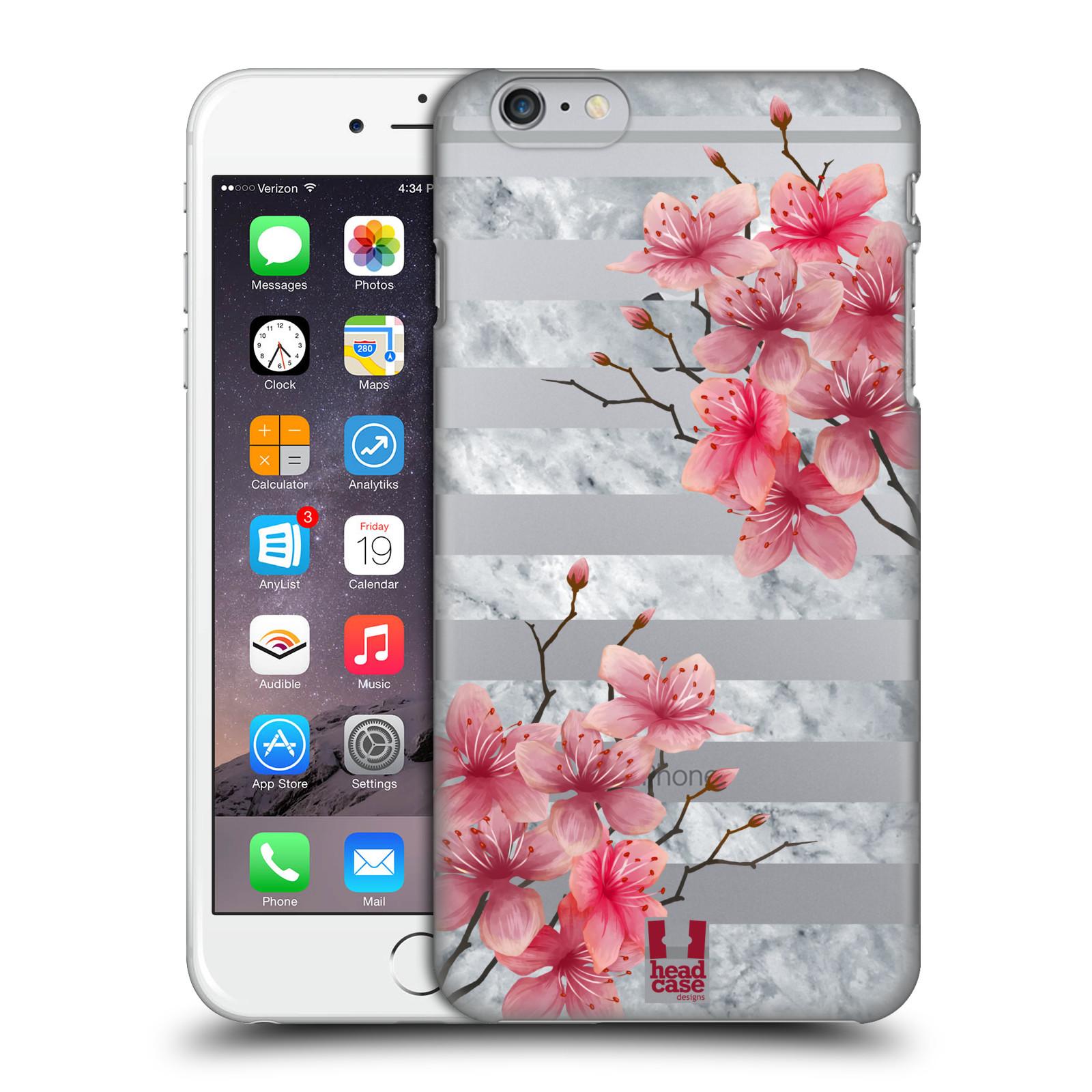 Plastové pouzdro pro mobil Apple Iphone 6 PLUS / 6S PLUS růžové květy v rozkvětu a mramor