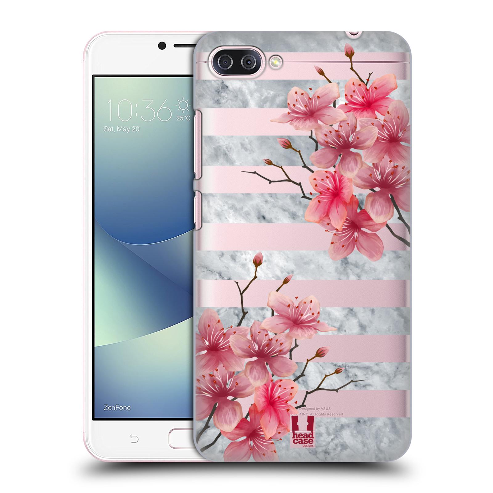 HEAD CASE plastový obal na mobil Asus Zenfone 4 MAX ZC554KL růžové květy v rozkvětu a mramor