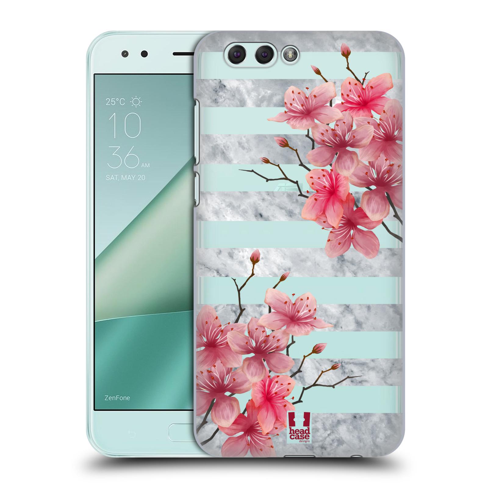 HEAD CASE plastový obal na mobil Asus Zenfone 4 ZE554KL růžové květy v rozkvětu a mramor