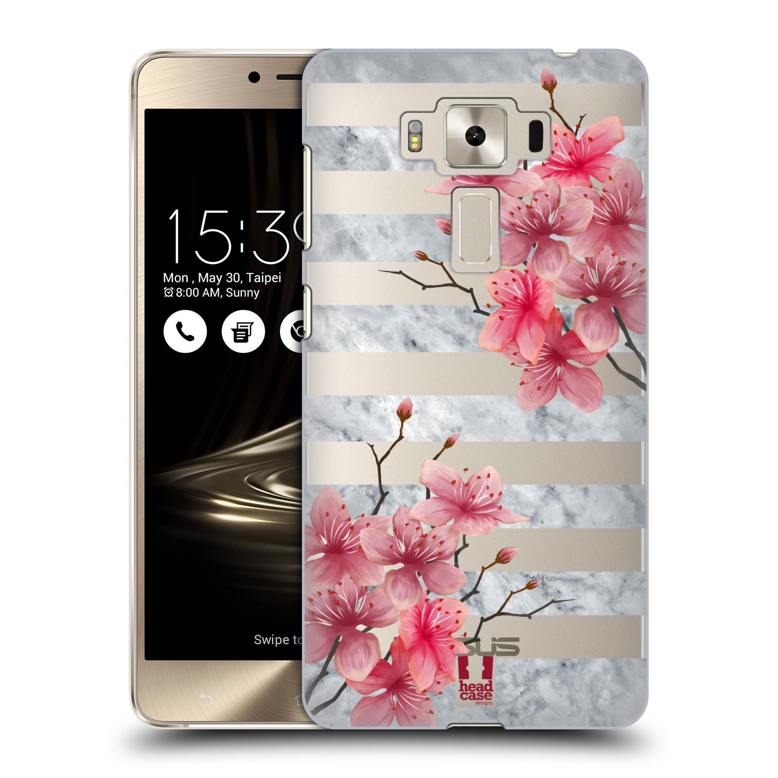 HEAD CASE plastový obal na mobil Asus Zenfone 3 DELUXE ZS550KL růžové květy v rozkvětu a mramor