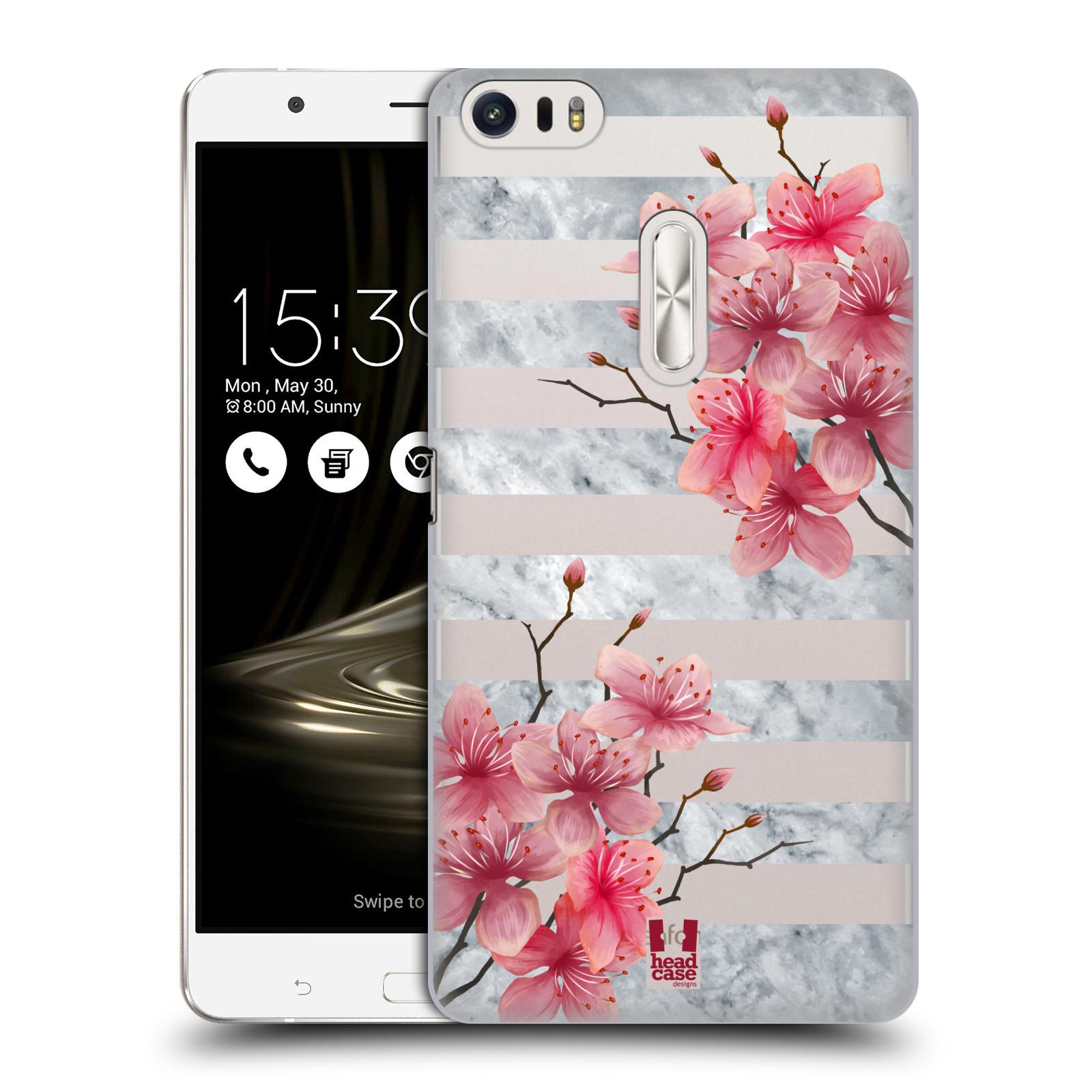 HEAD CASE plastový obal na mobil Asus Zenfone 3 Ultra ZU680KL růžové květy v rozkvětu a mramor