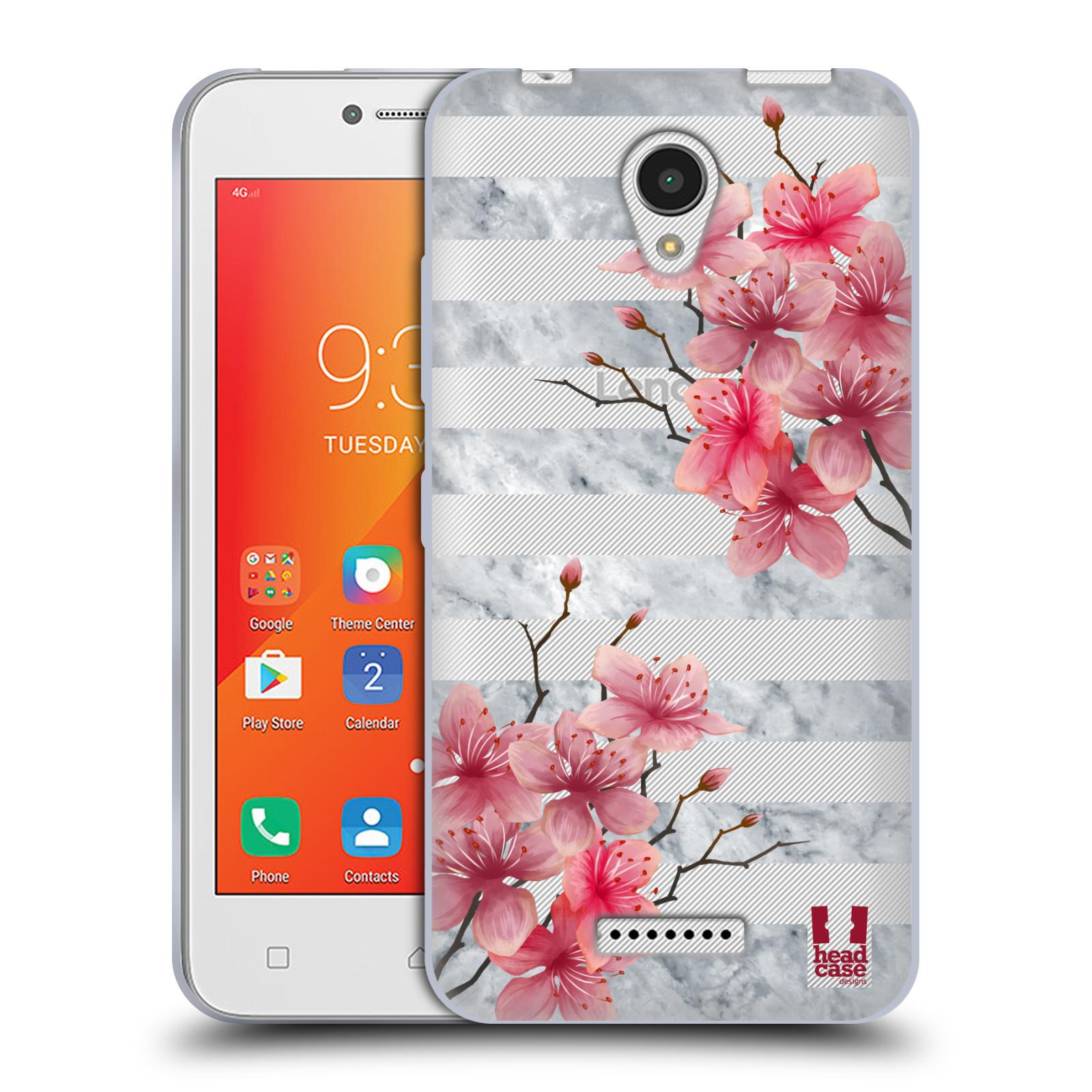 HEAD CASE silikonový obal na mobil Lenovo A PLUS růžové květy v rozkvětu a  mramor 461314f3897