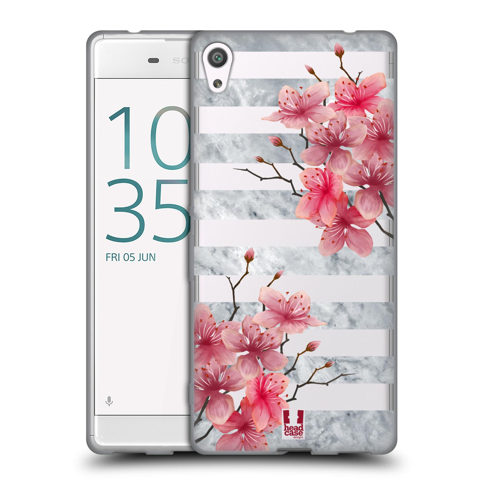 HEAD CASE silikonový obal na mobil Sony Xperia XA ULTRA růžové květy v rozkvětu a mramor