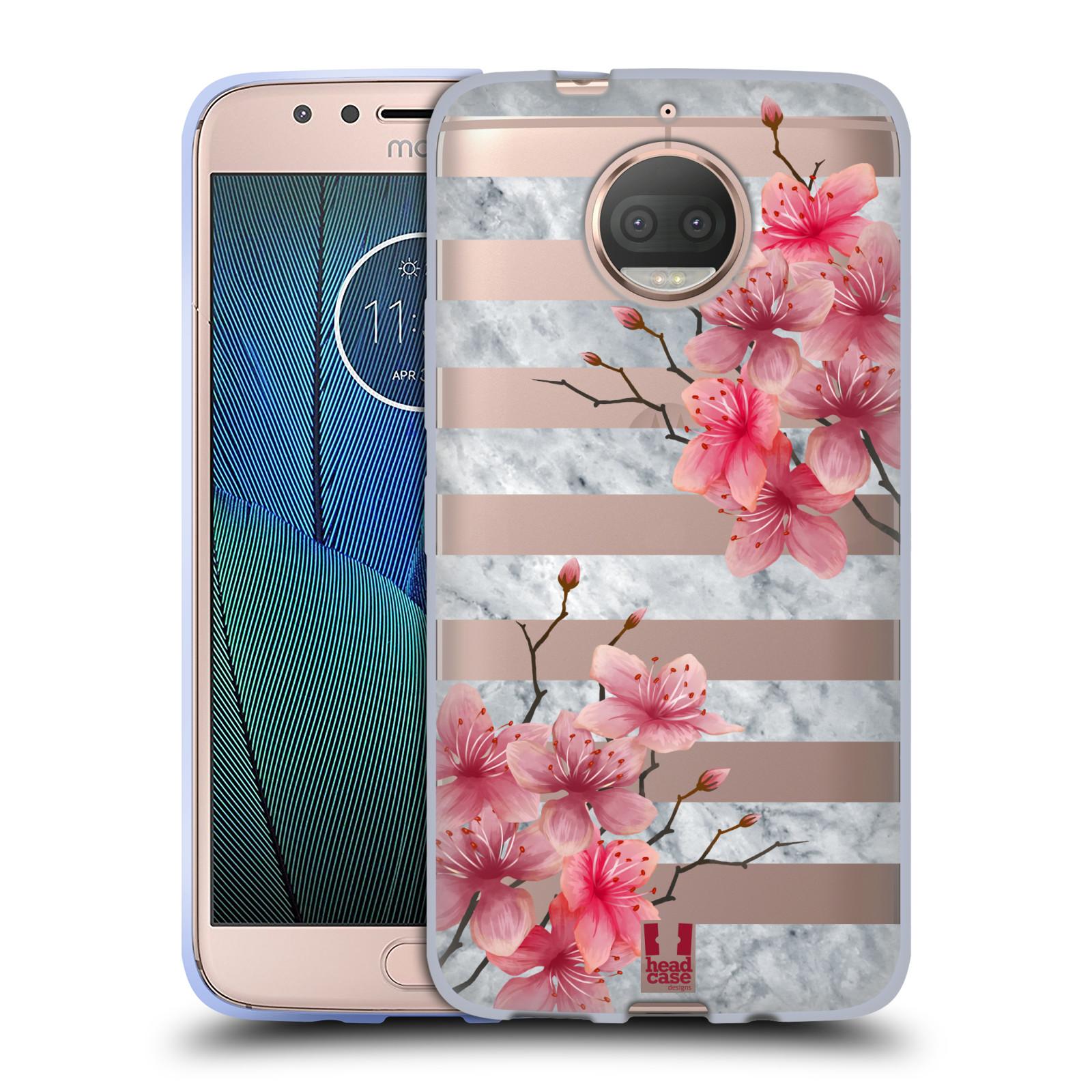 HEAD CASE silikonový obal na mobil Lenovo Moto G5s PLUS růžové květy v rozkvětu a mramor