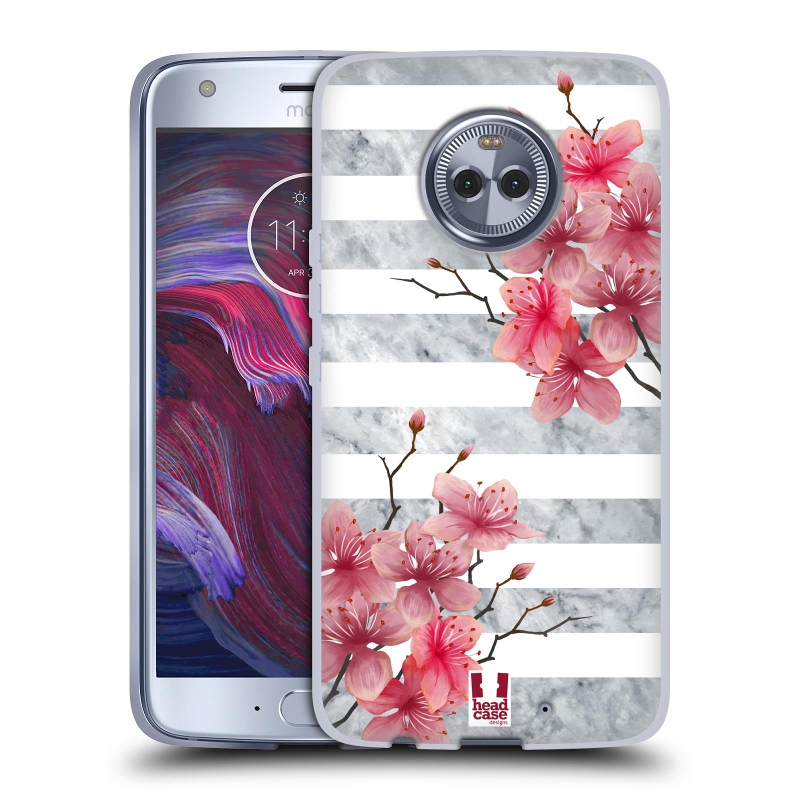 HEAD CASE silikonový obal na mobil Motorola Moto X4 růžové květy v rozkvětu  a mramor c25ff676a07