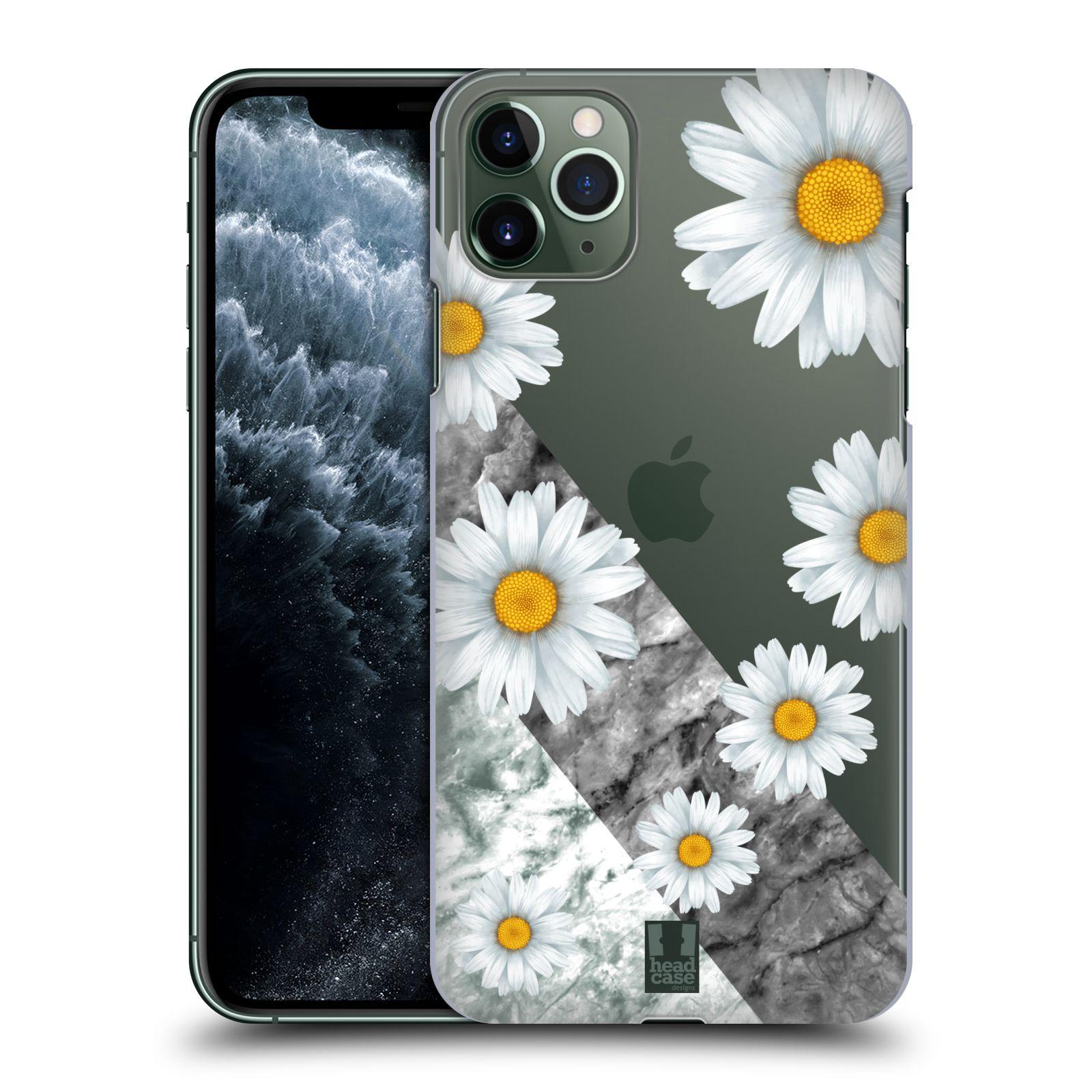 Pouzdro na mobil Apple Iphone 11 PRO MAX - HEAD CASE - květina sedmikráska a mramor