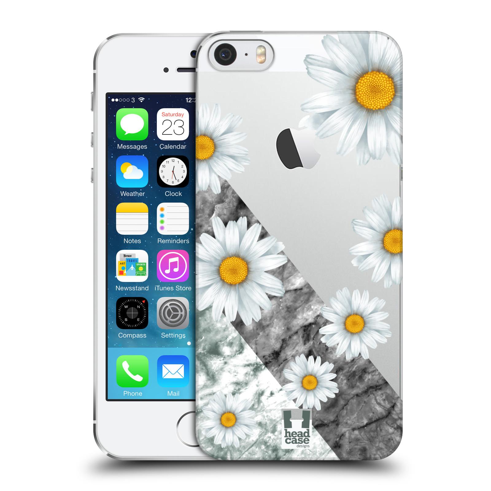 Plastové pouzdro pro mobil Apple Iphone 5 / 5S / SE květina sedmikráska a mramor