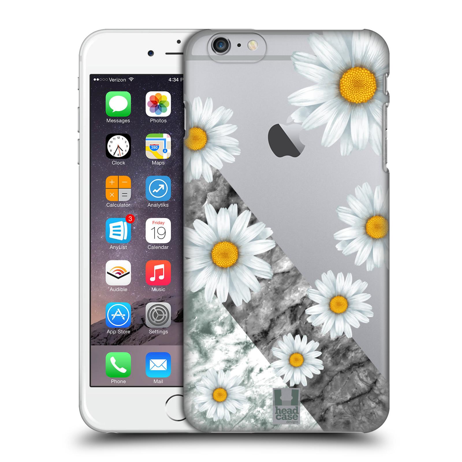 Plastové pouzdro pro mobil Apple Iphone 6 PLUS / 6S PLUS květina sedmikráska a mramor