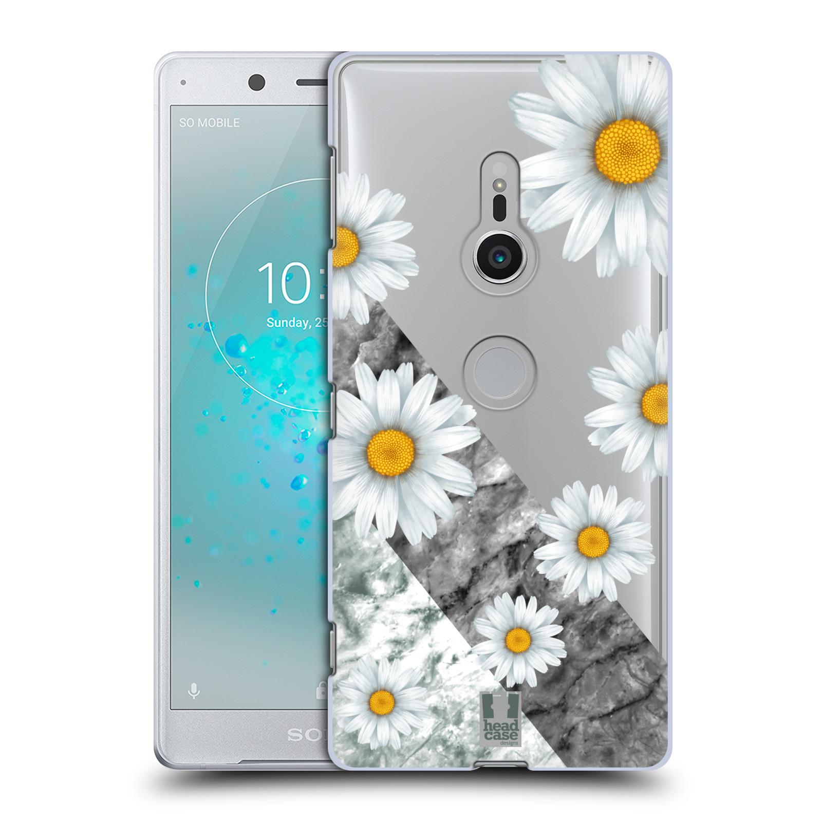 HEAD CASE plastový obal na mobil Sony Xperia XZ2 květina sedmikráska a mramor