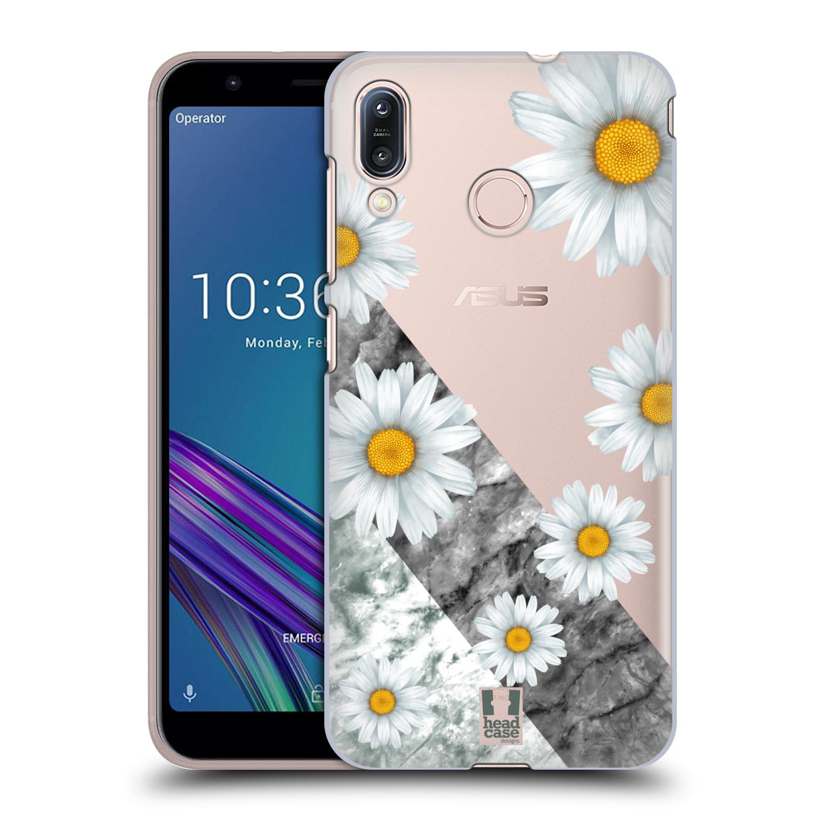 Pouzdro na mobil Asus Zenfone Max M1 (ZB555KL) - HEAD CASE - květina sedmikráska a mramor