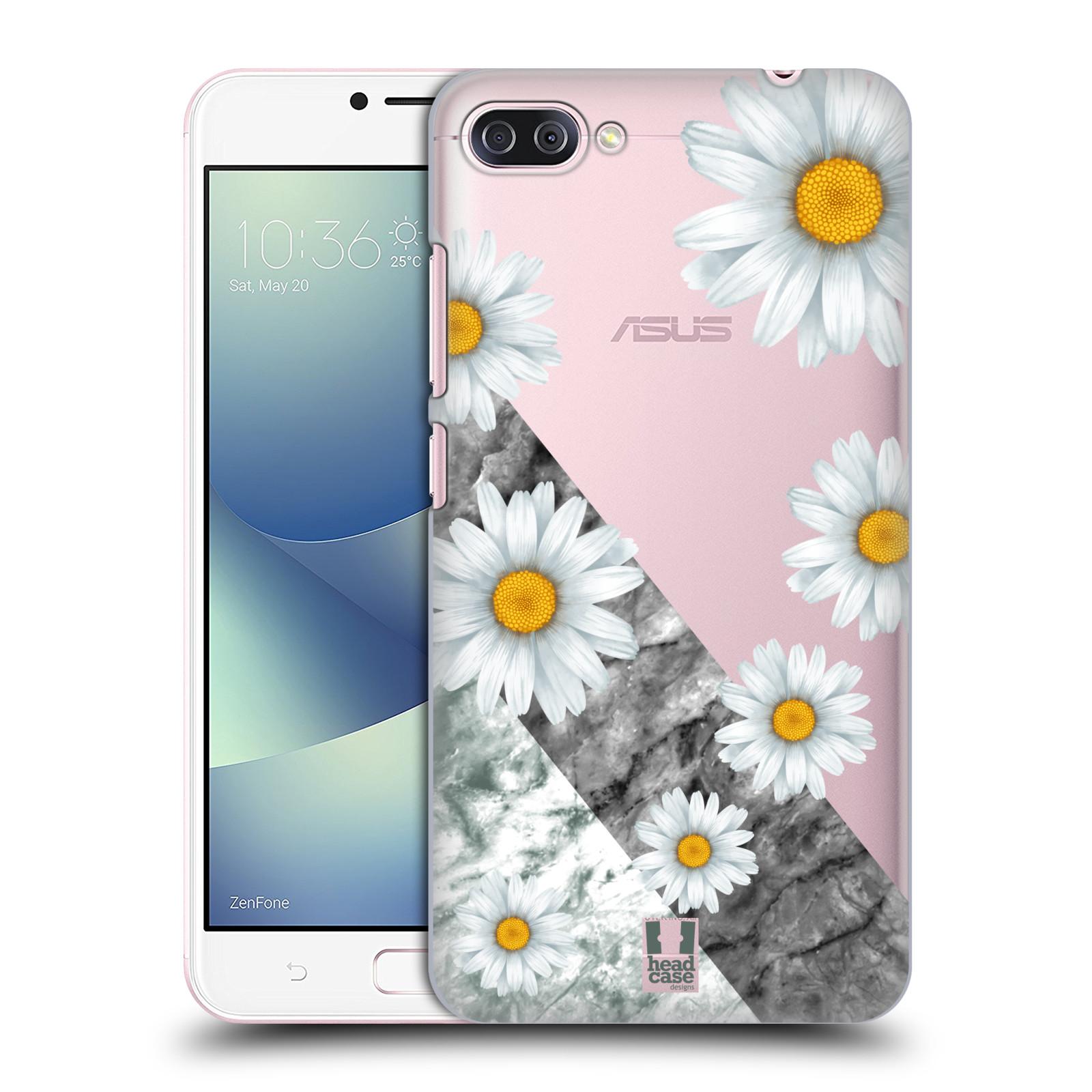HEAD CASE plastový obal na mobil Asus Zenfone 4 MAX ZC554KL květina sedmikráska a mramor