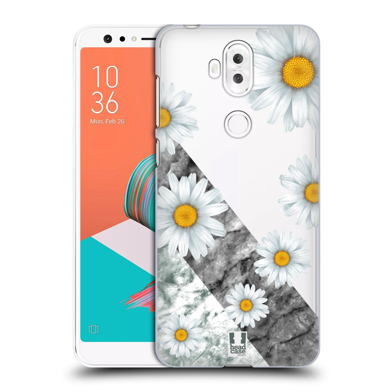 HEAD CASE plastový obal na mobil Asus Zenfone 5 LITE ZC600KL květina sedmikráska a mramor