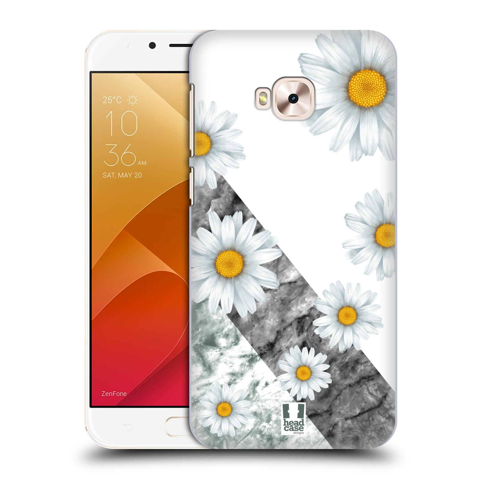 HEAD CASE plastový obal na mobil Asus Zenfone 4 Selfie Pro ZD552KL květina sedmikráska a mramor