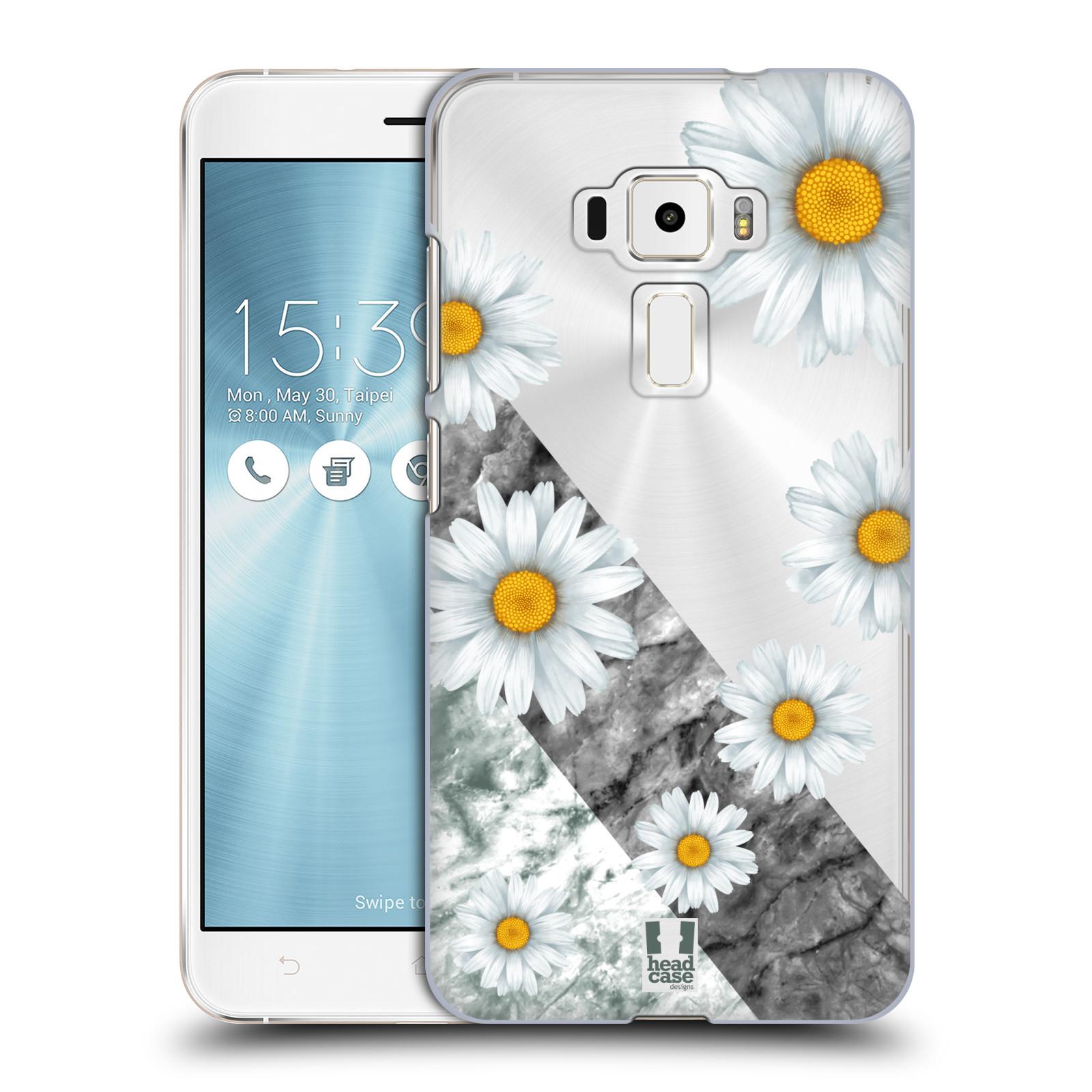 HEAD CASE plastový obal na mobil Asus Zenfone 3 ZE552KL květina sedmikráska a mramor