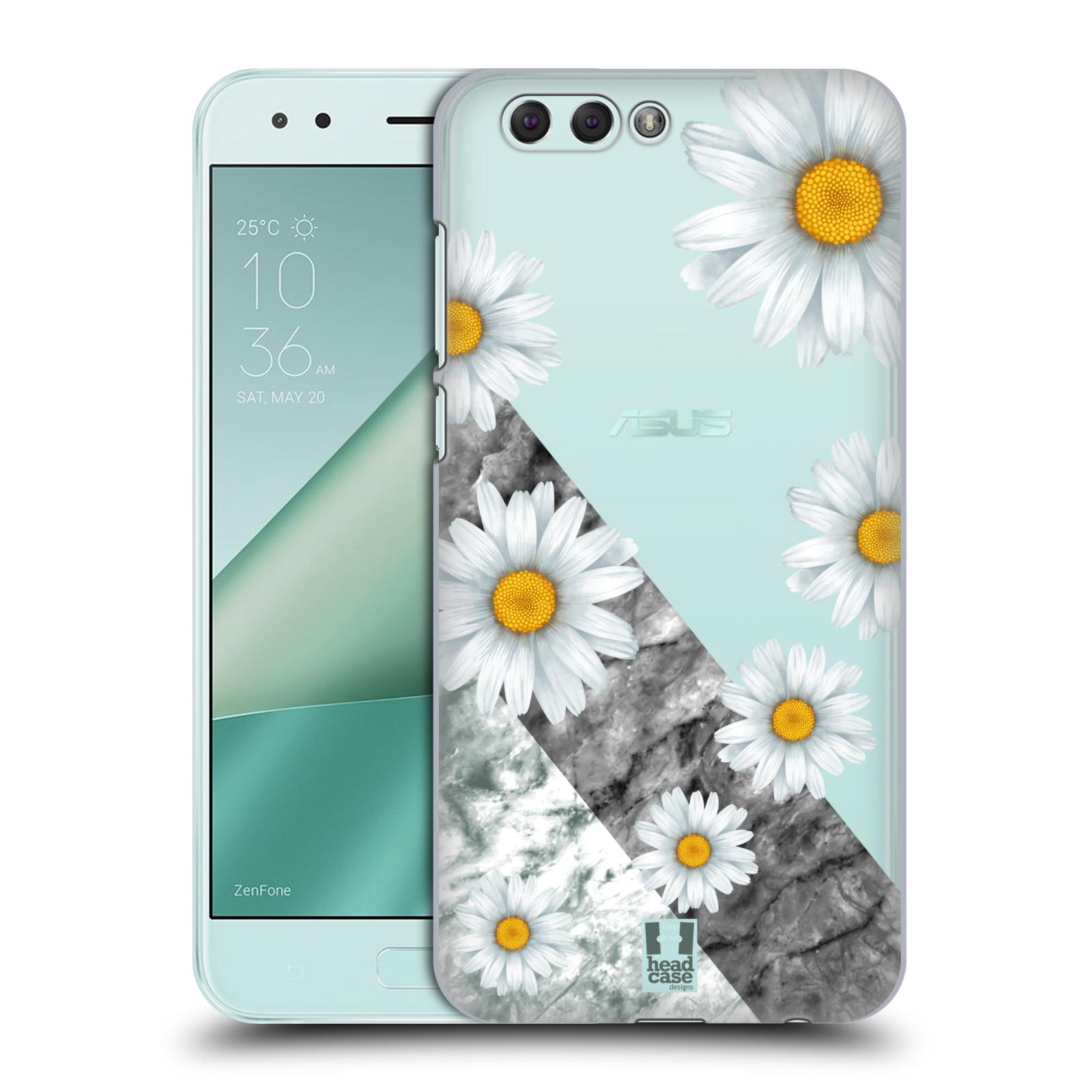 HEAD CASE plastový obal na mobil Asus Zenfone 4 ZE554KL květina sedmikráska a mramor