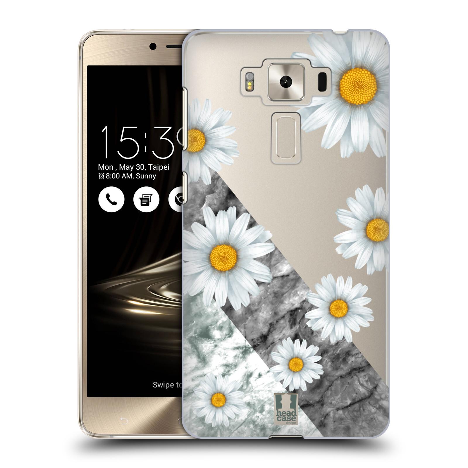 HEAD CASE plastový obal na mobil Asus Zenfone 3 DELUXE ZS550KL květina sedmikráska a mramor