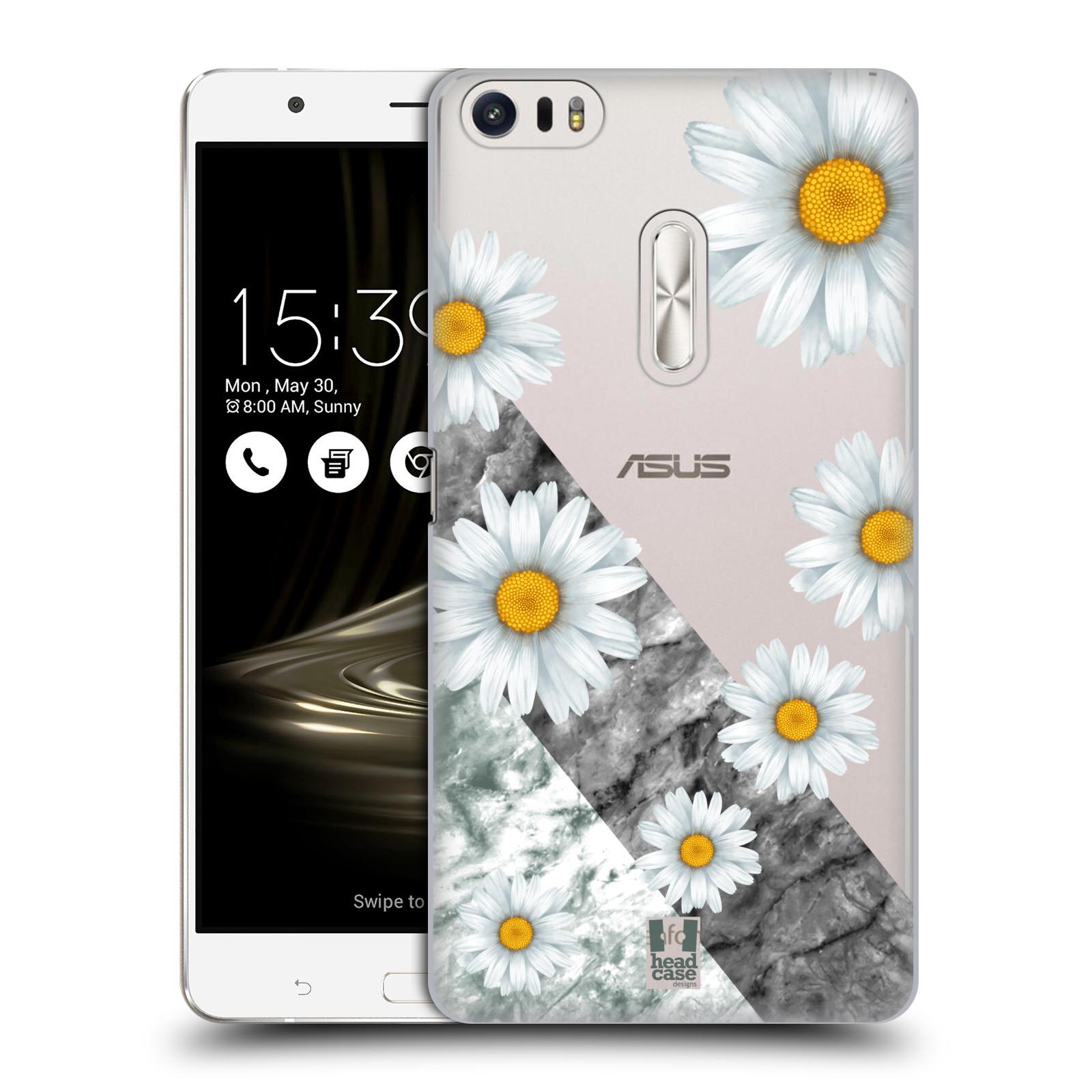 HEAD CASE plastový obal na mobil Asus Zenfone 3 Ultra ZU680KL květina sedmikráska a mramor