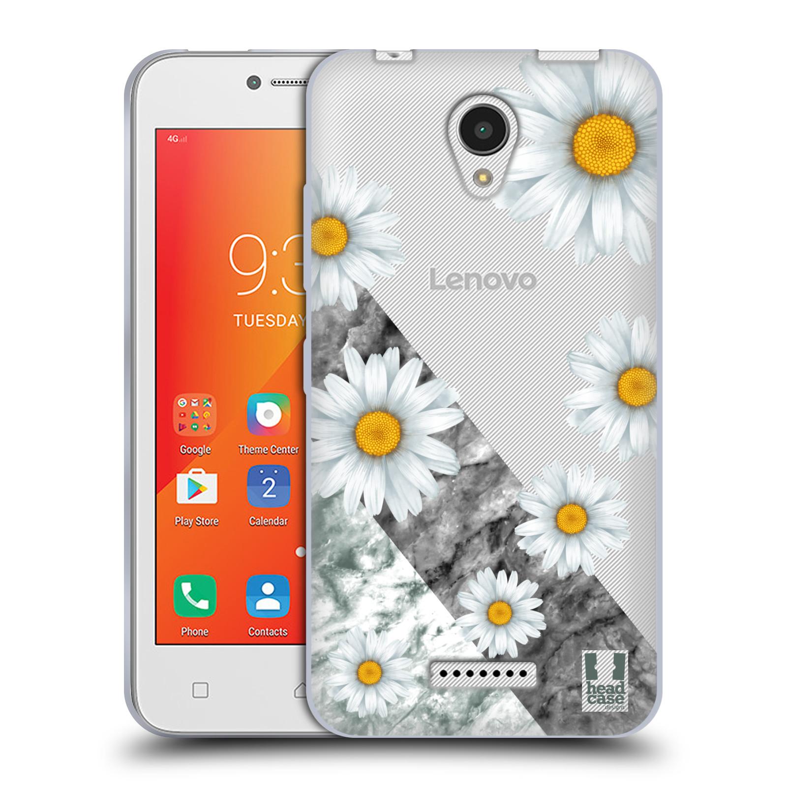 HEAD CASE silikonový obal na mobil Lenovo A PLUS květina sedmikráska a  mramor edfda85f013