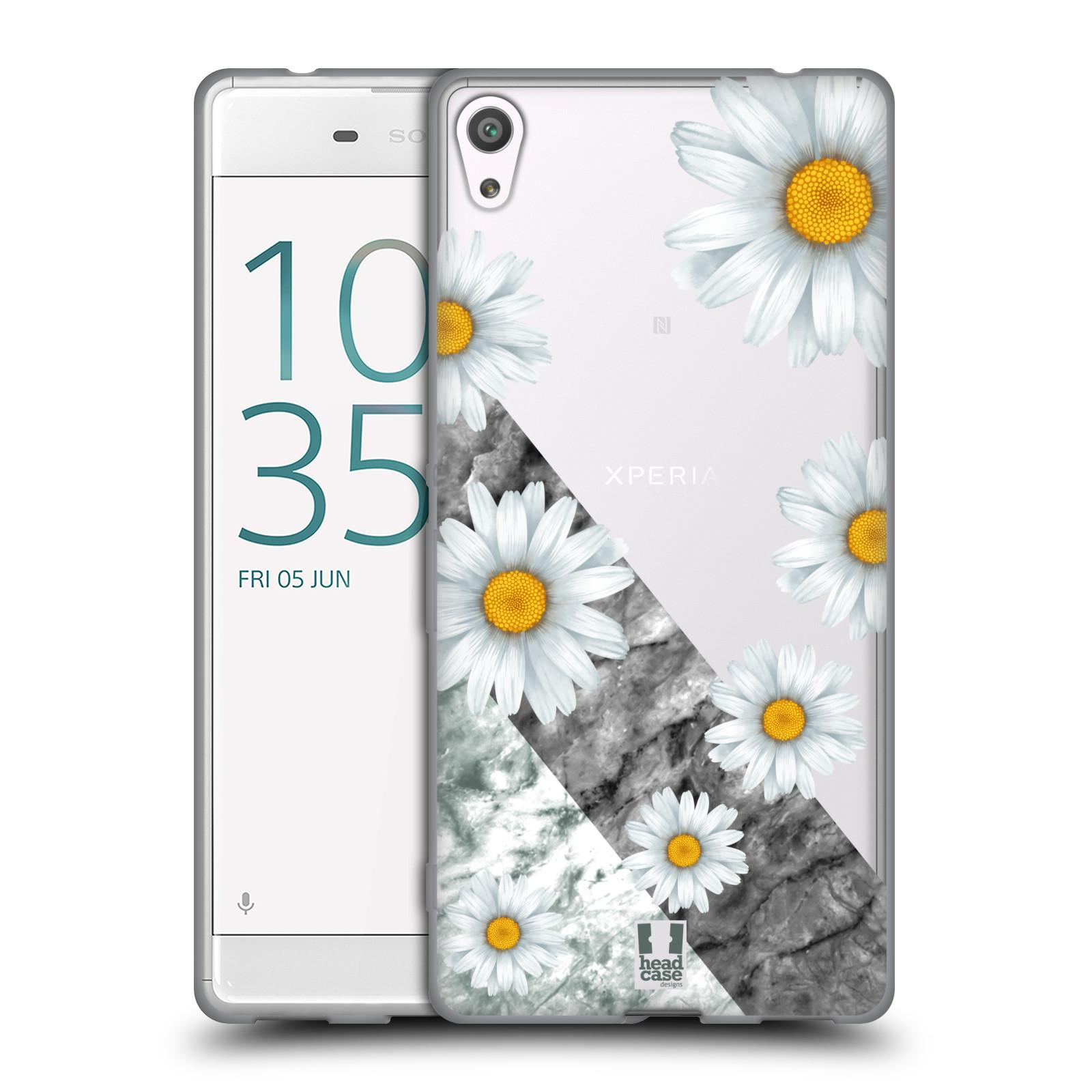 HEAD CASE silikonový obal na mobil Sony Xperia XA ULTRA květina sedmikráska a mramor