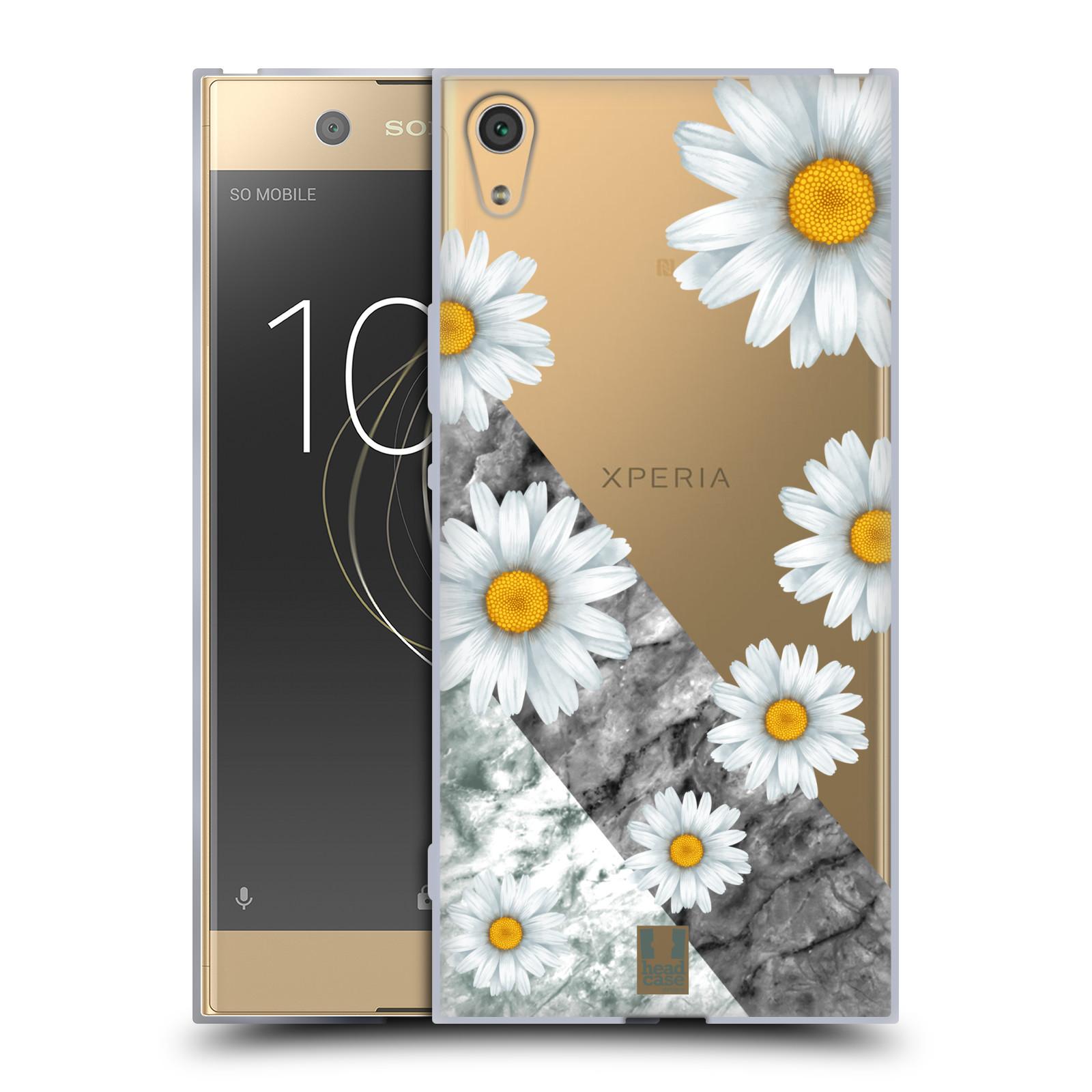 HEAD CASE silikonový obal na mobil Sony Xperia XA1 ULTRA květina sedmikráska a mramor