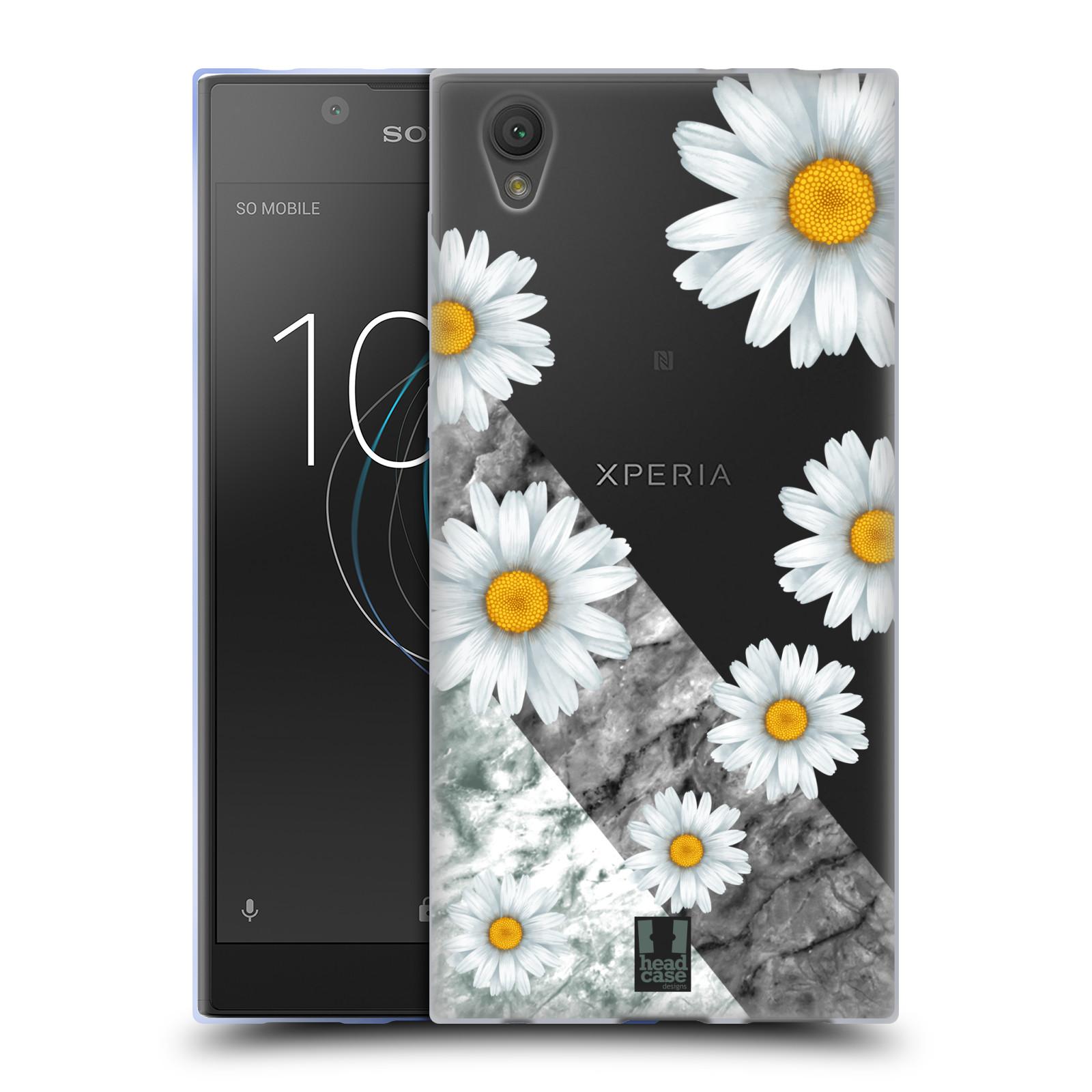 HEAD CASE silikonový obal na mobil Sony Xperia L1 květina sedmikráska a mramor