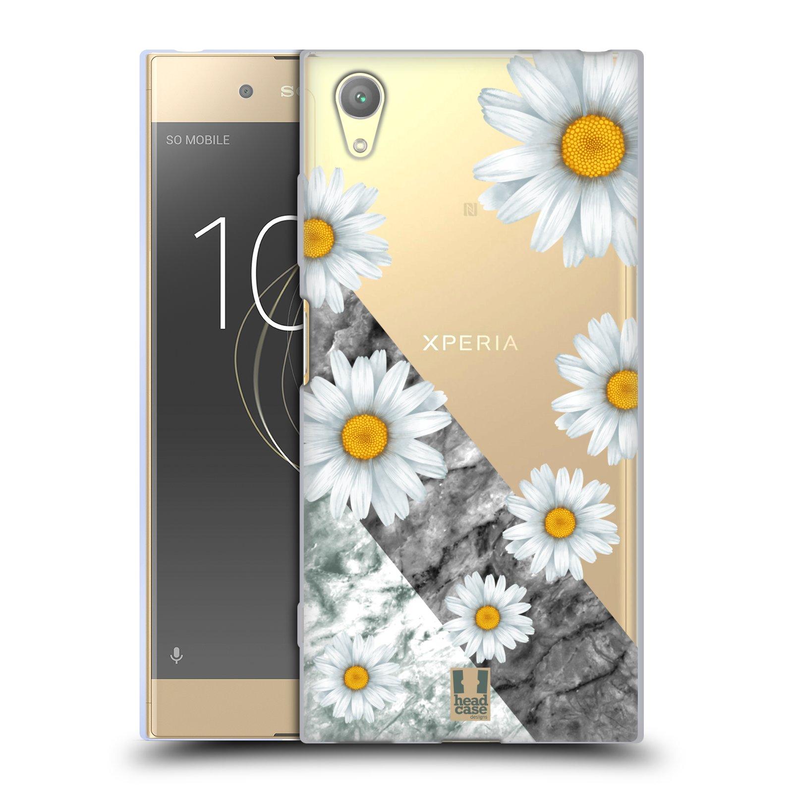 HEAD CASE silikonový obal na mobil Sony Xperia XA1 PLUS květina sedmikráska a mramor