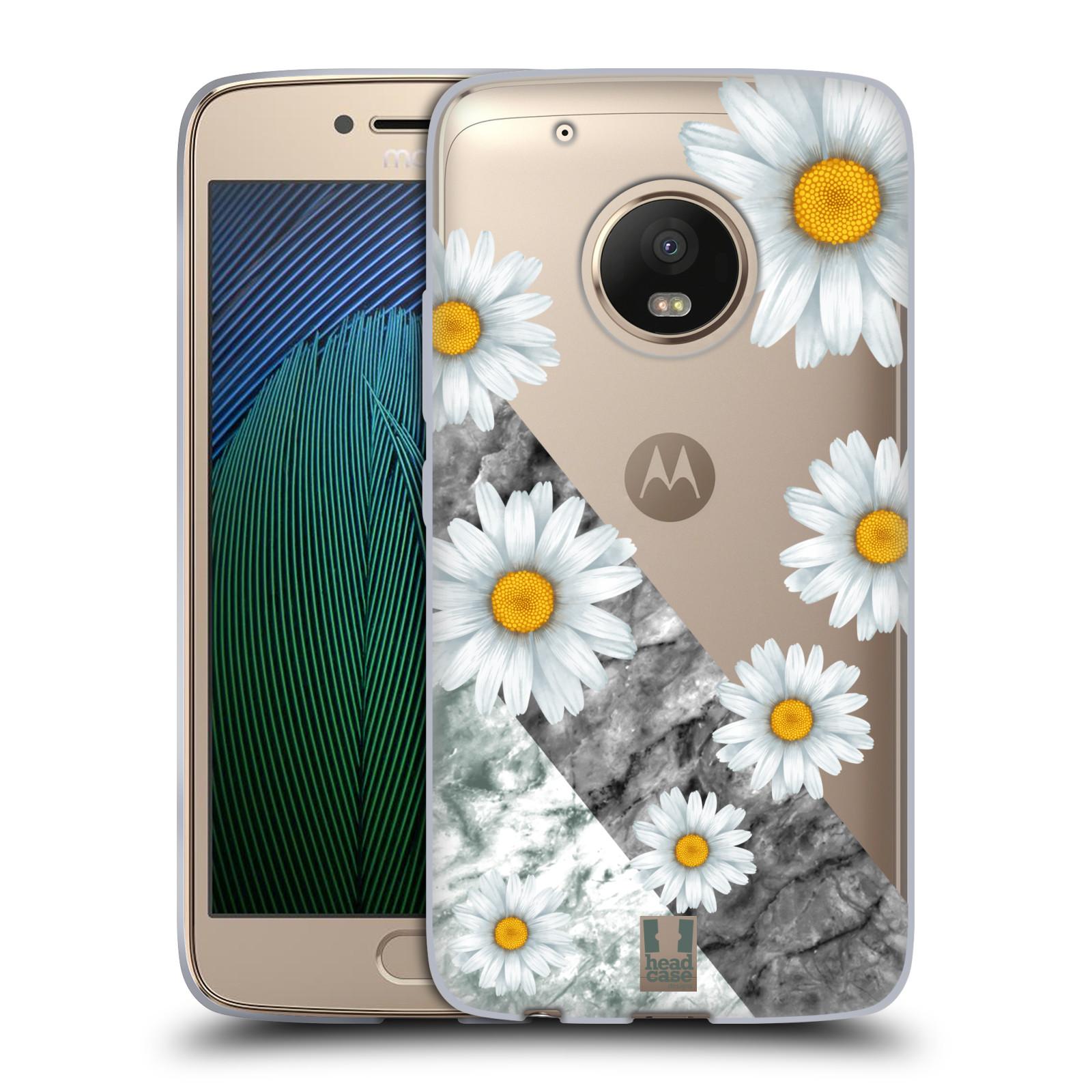 HEAD CASE silikonový obal na mobil Lenovo Moto G5 PLUS květina sedmikráska  a mramor 2883cf687b3