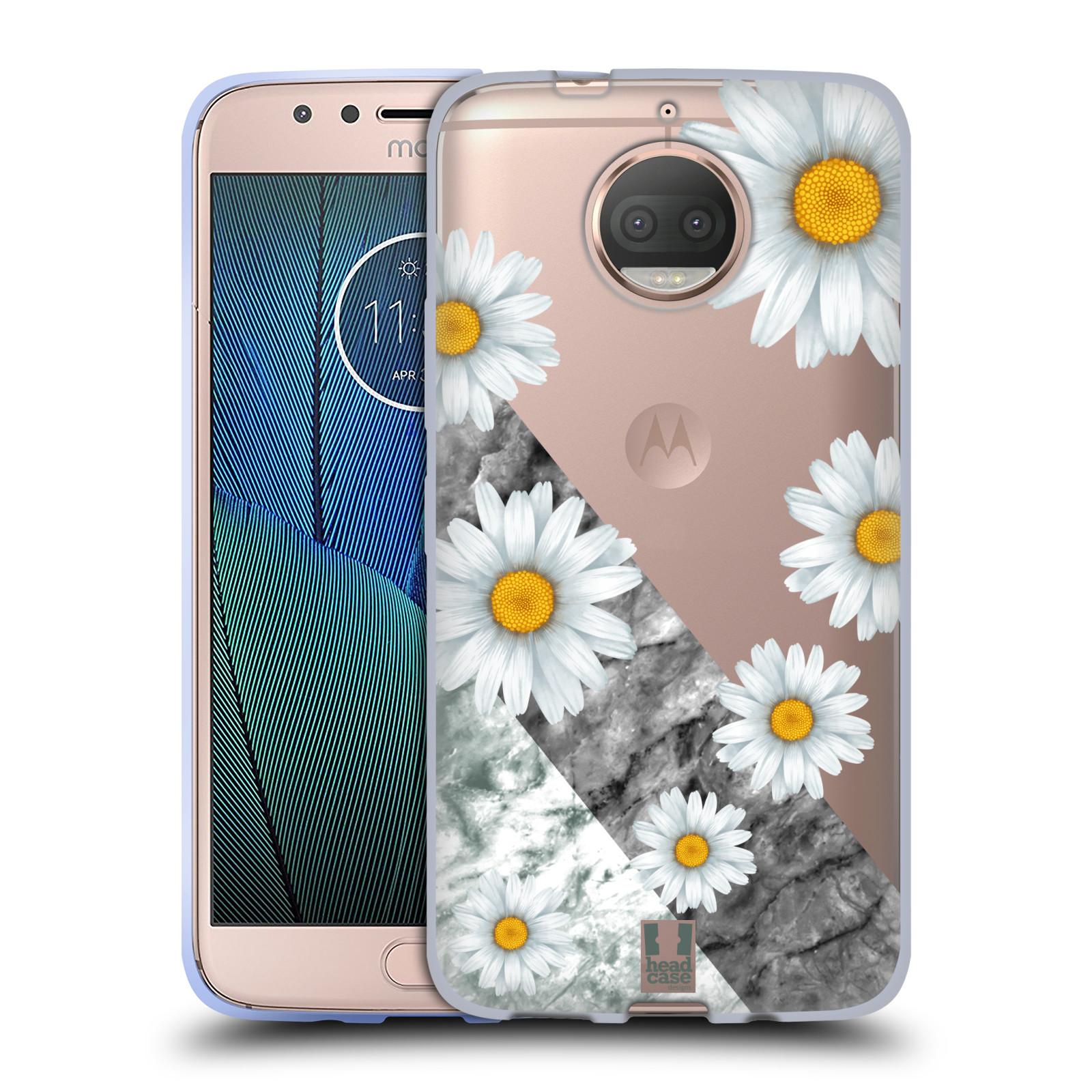 HEAD CASE silikonový obal na mobil Lenovo Moto G5s PLUS květina sedmikráska a mramor