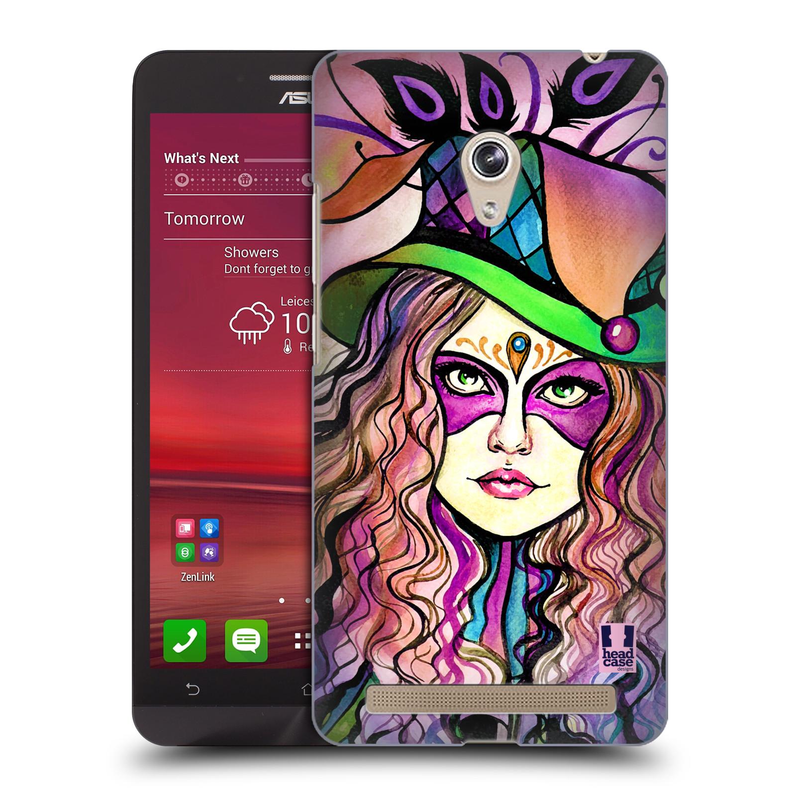 HEAD CASE plastový obal na mobil Asus Zenfone 6 vzor Maškarní ples masky kreslené vzory KLOBOUK