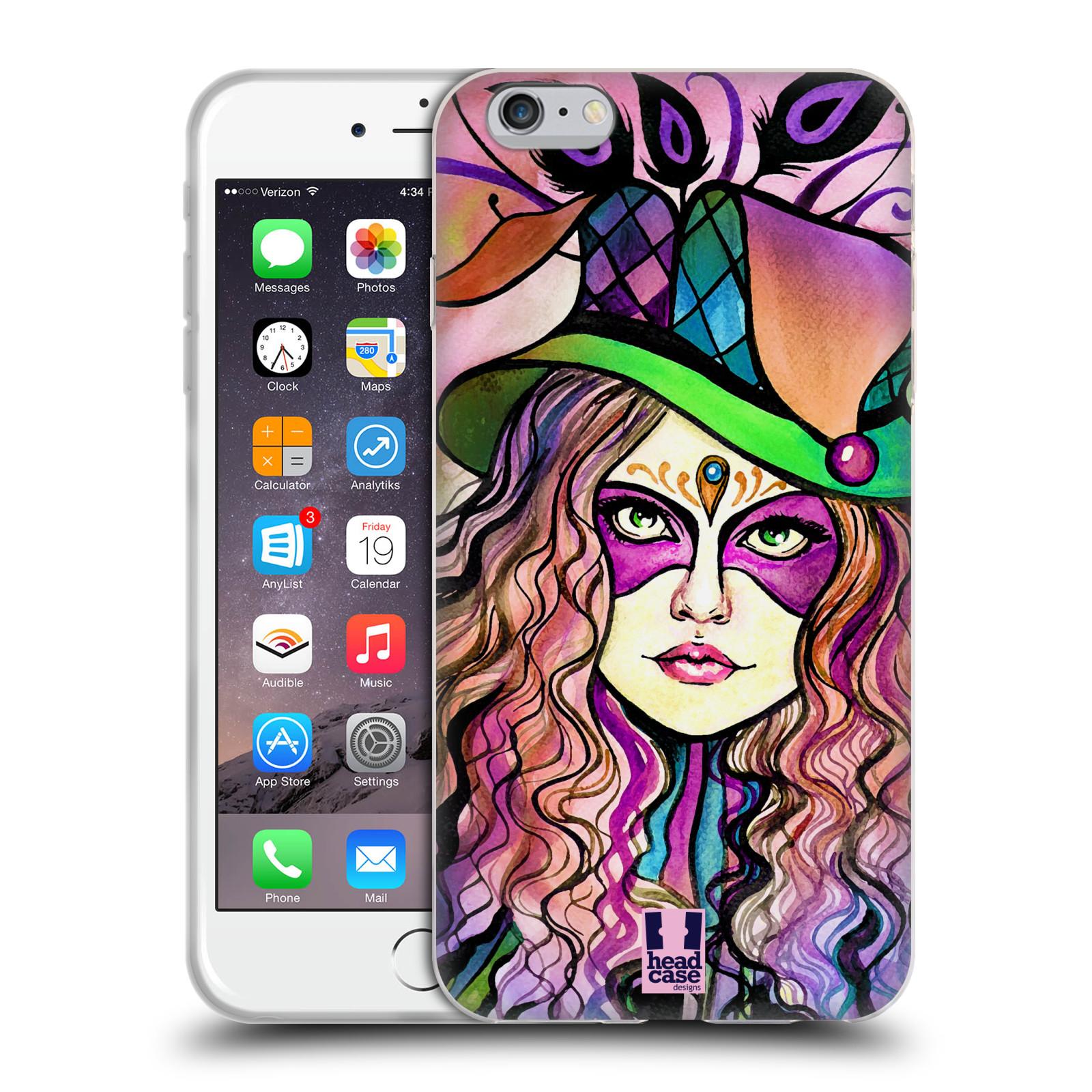 HEAD CASE silikonový obal na mobil Apple Iphone 6 PLUS/ 6S PLUS vzor Maškarní ples masky kreslené vzory KLOBOUK