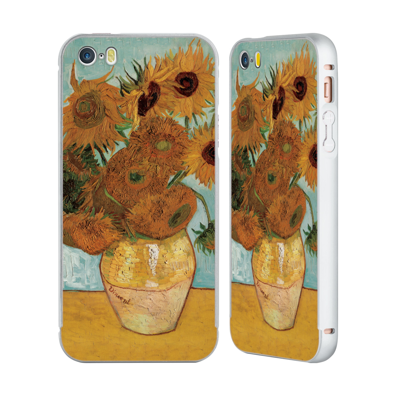 MASTERS-COLLECTION-PAINTINGS-1-SILVER-BUMPER-SLIDER-CASE-FOR-APPLE-iPHONE-PHONES