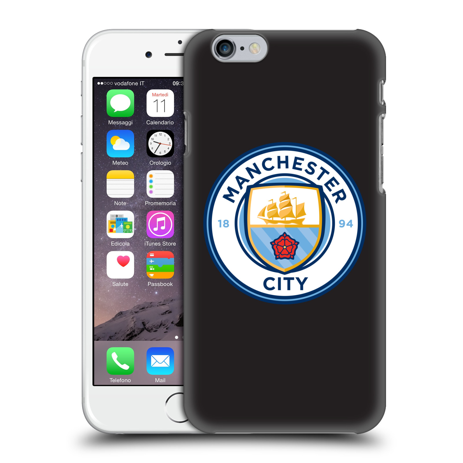 Manchester City FC MCFC Badge-Black Full Colour