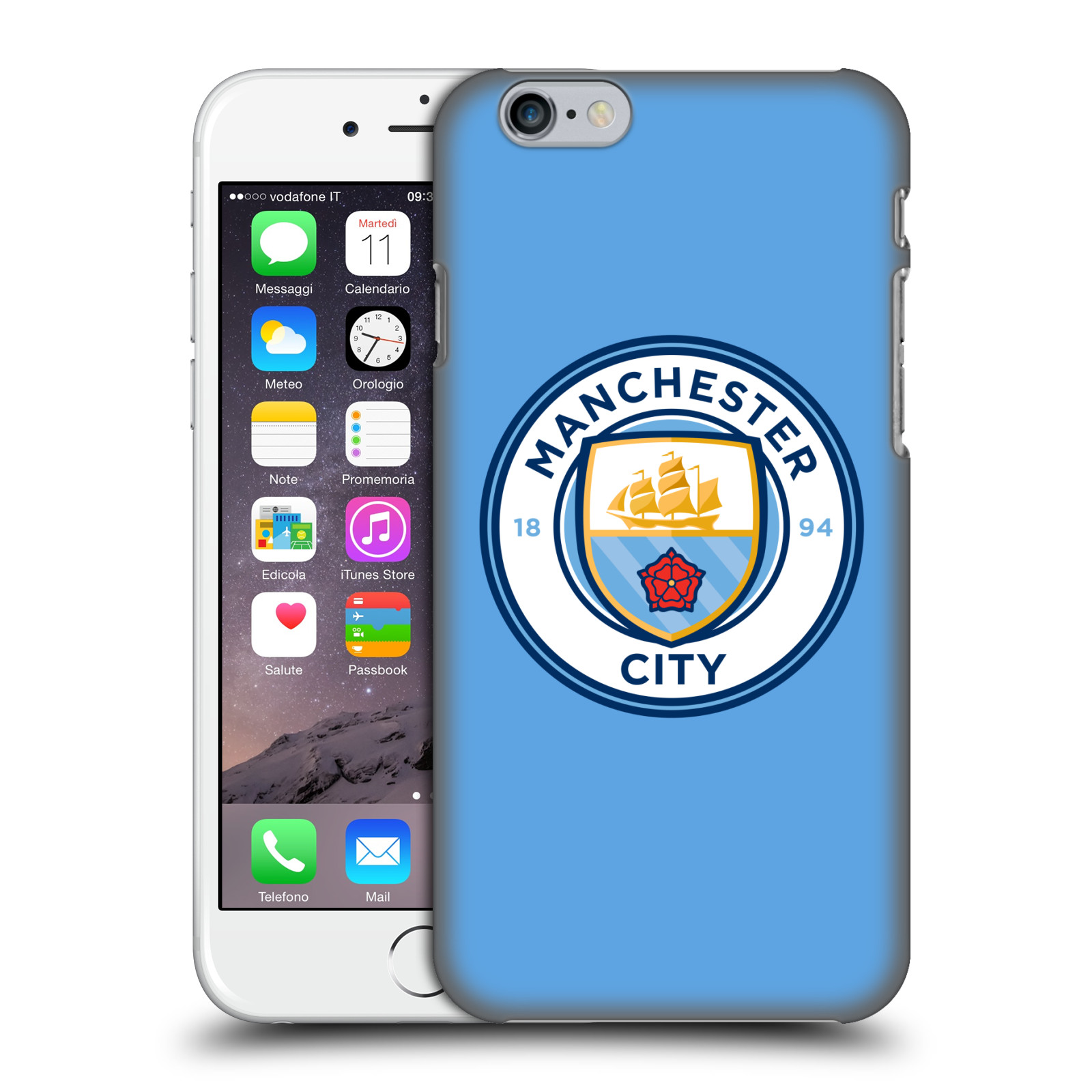 Manchester City FC MCFC Badge-Blue Full Colour