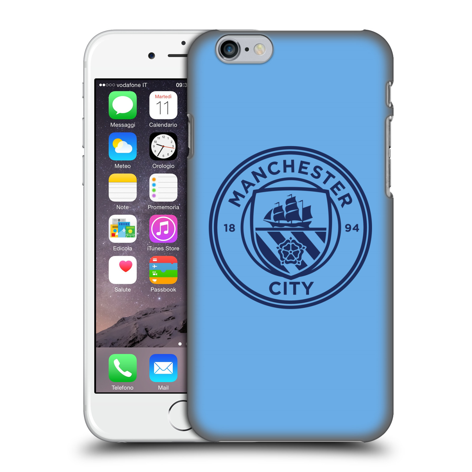 Manchester City FC MCFC Badge-Blue Obsidian Mono