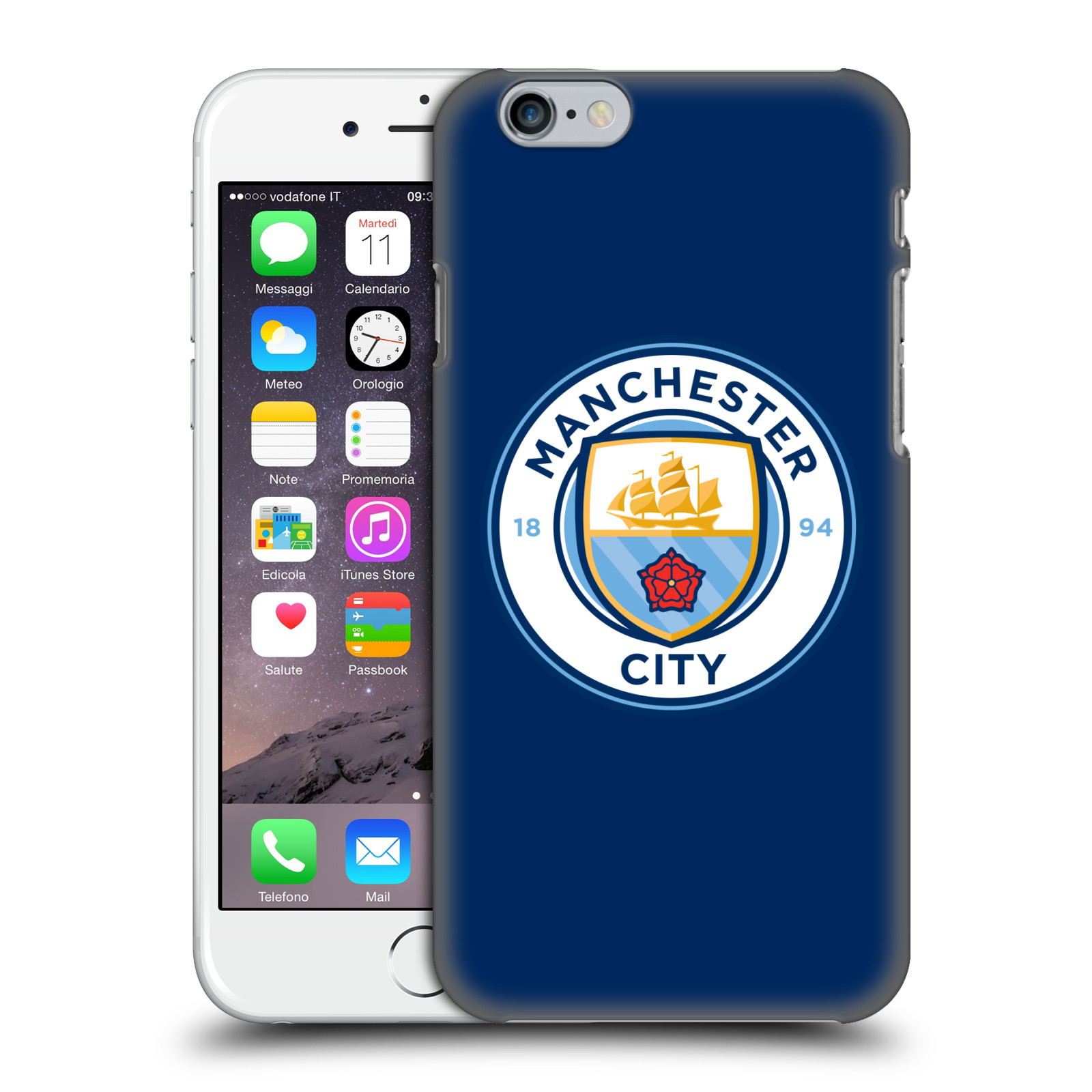 Manchester City FC MCFC Badge-Obsidian Full Colour