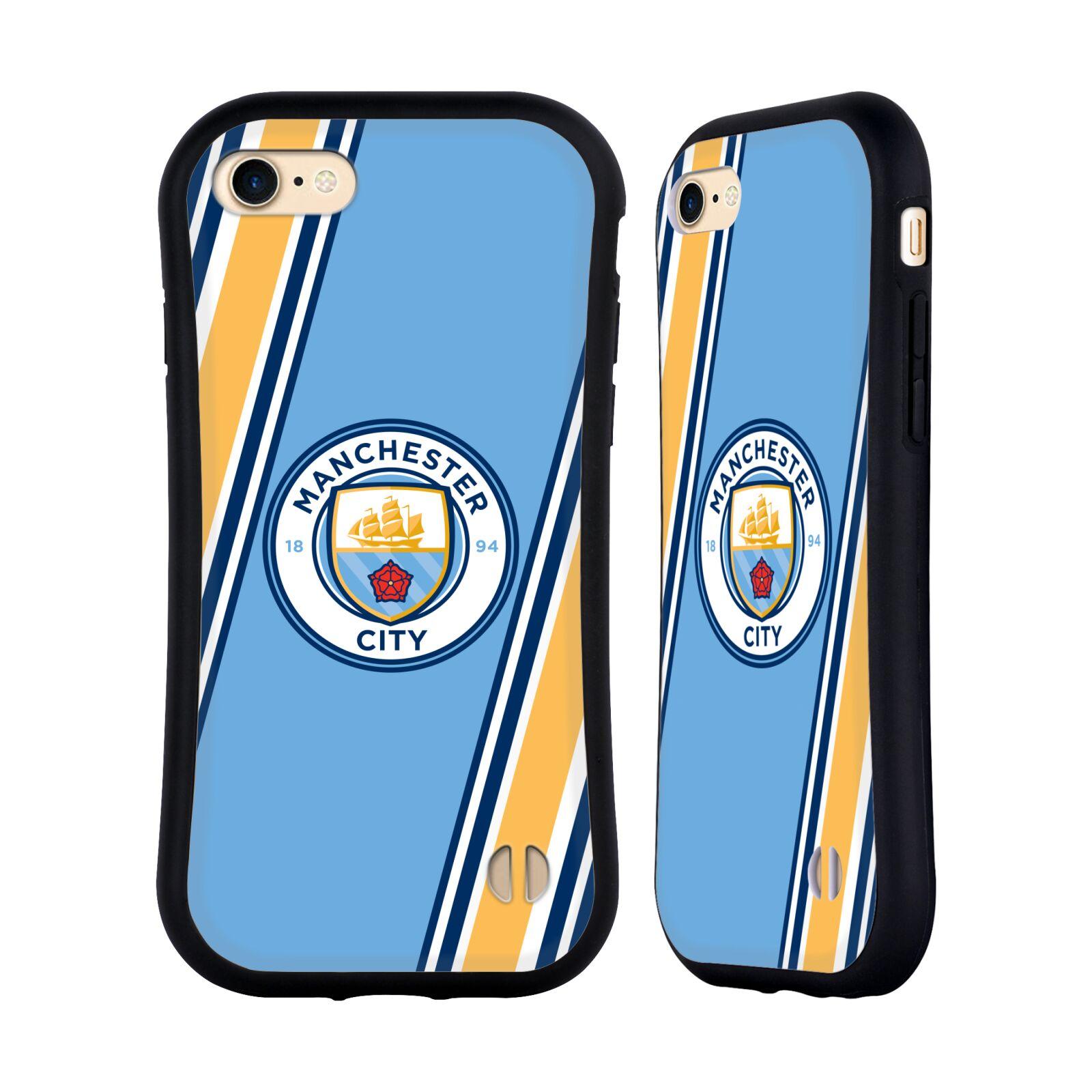 HEAD CASE odolný obal na mobil Apple Iphone 8 Fotbalový klub Manchester City modrá barva žluté pruhy