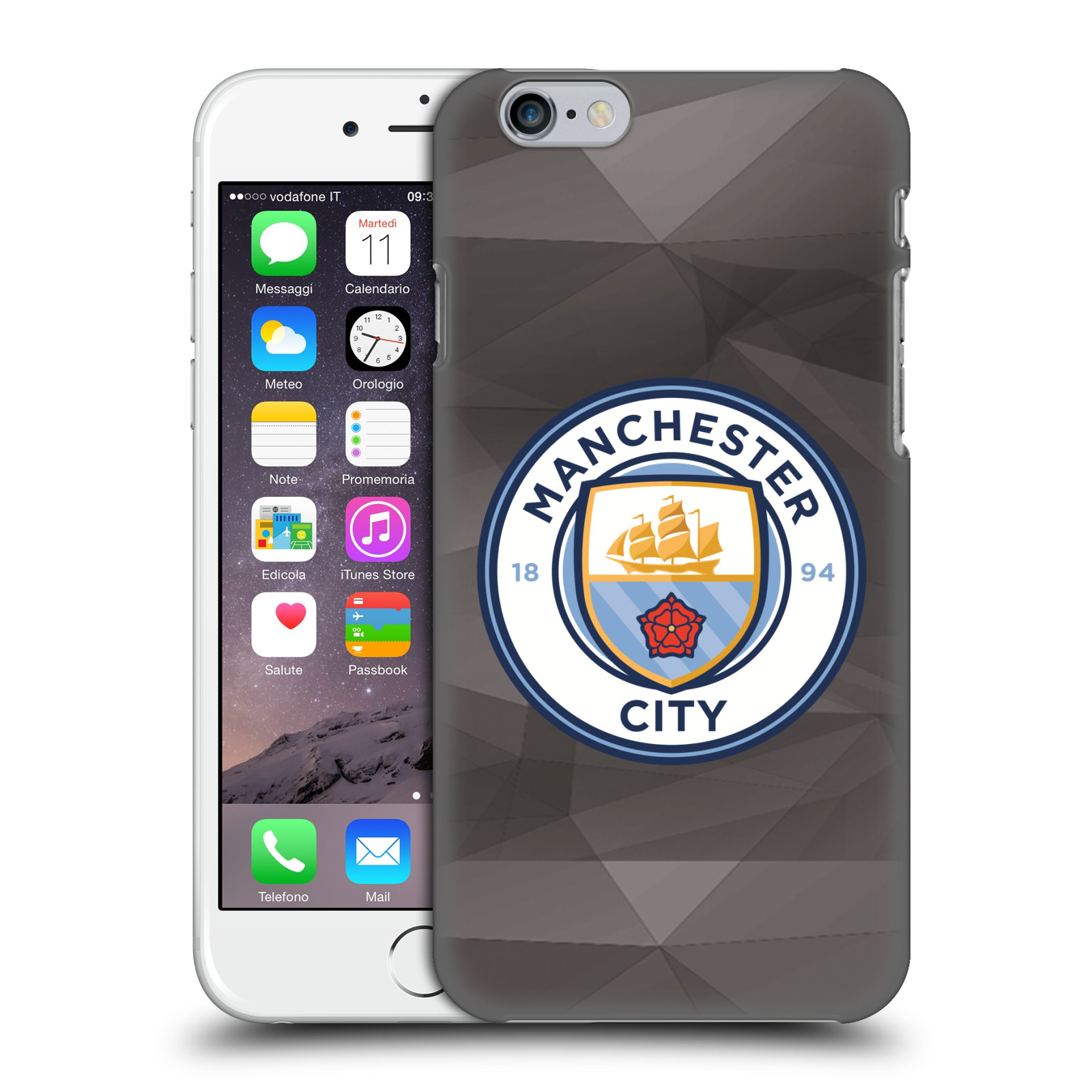 Manchester City FC MCFC Badge Geometric-Black Full Colour