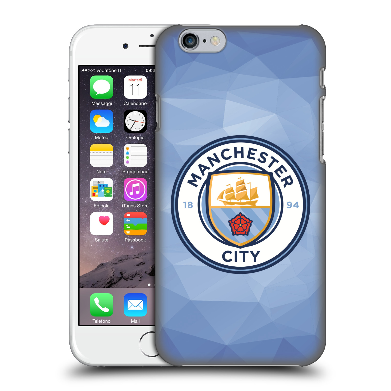 Manchester City FC MCFC Badge Geometric-Blue Full Colour