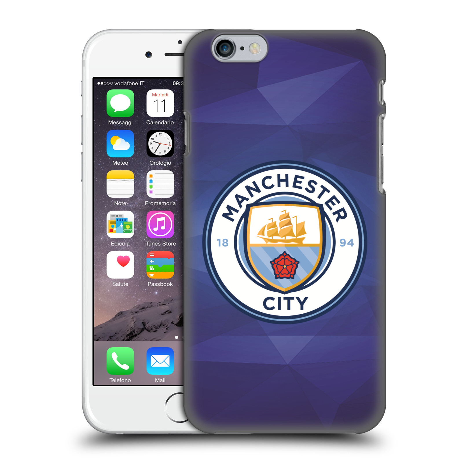 Manchester City FC MCFC Badge Geometric-Obsidian Full Colour
