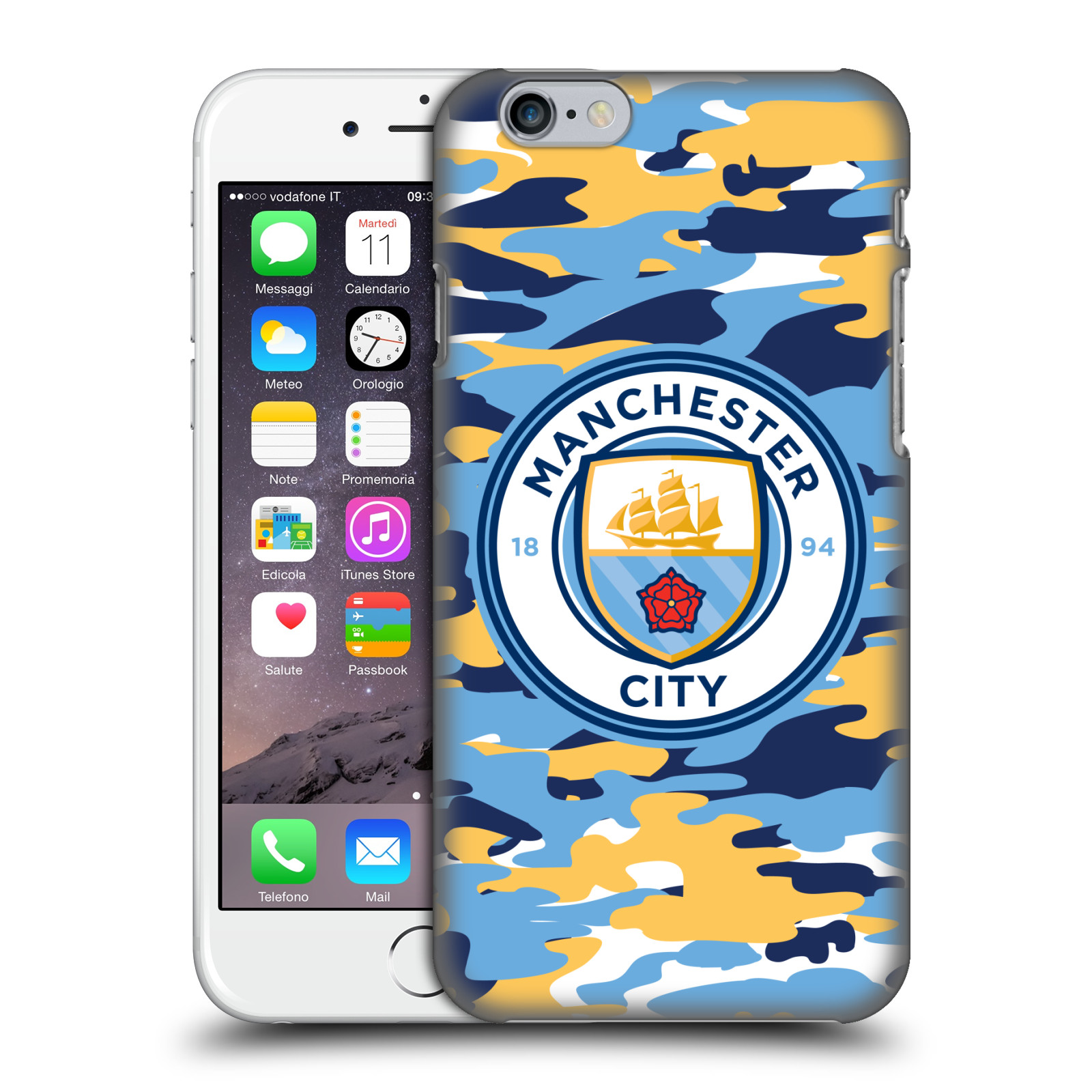 Manchester City FC MCFC Badge Camou-Club