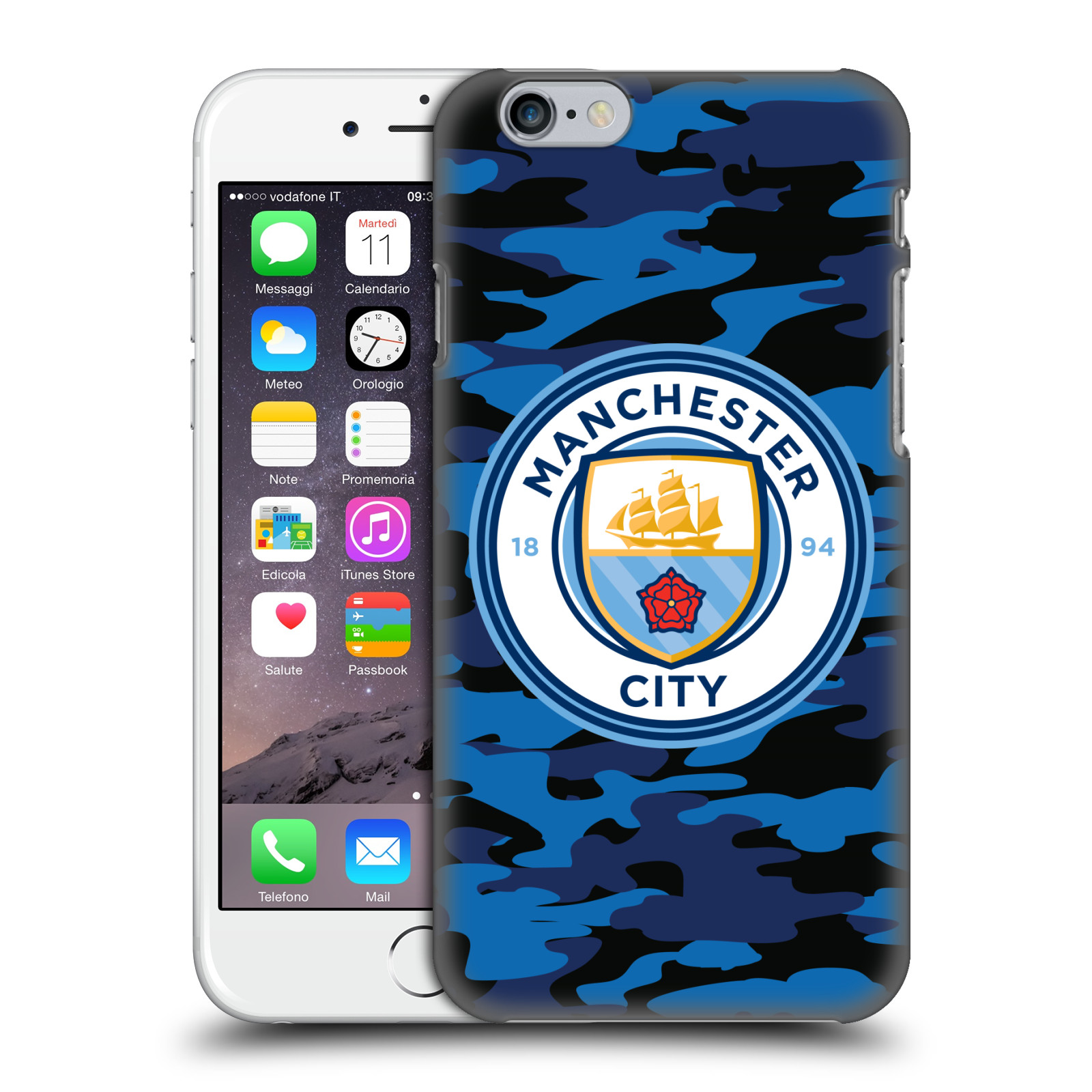 Manchester City FC MCFC Badge Camou-Dark Blue Moon